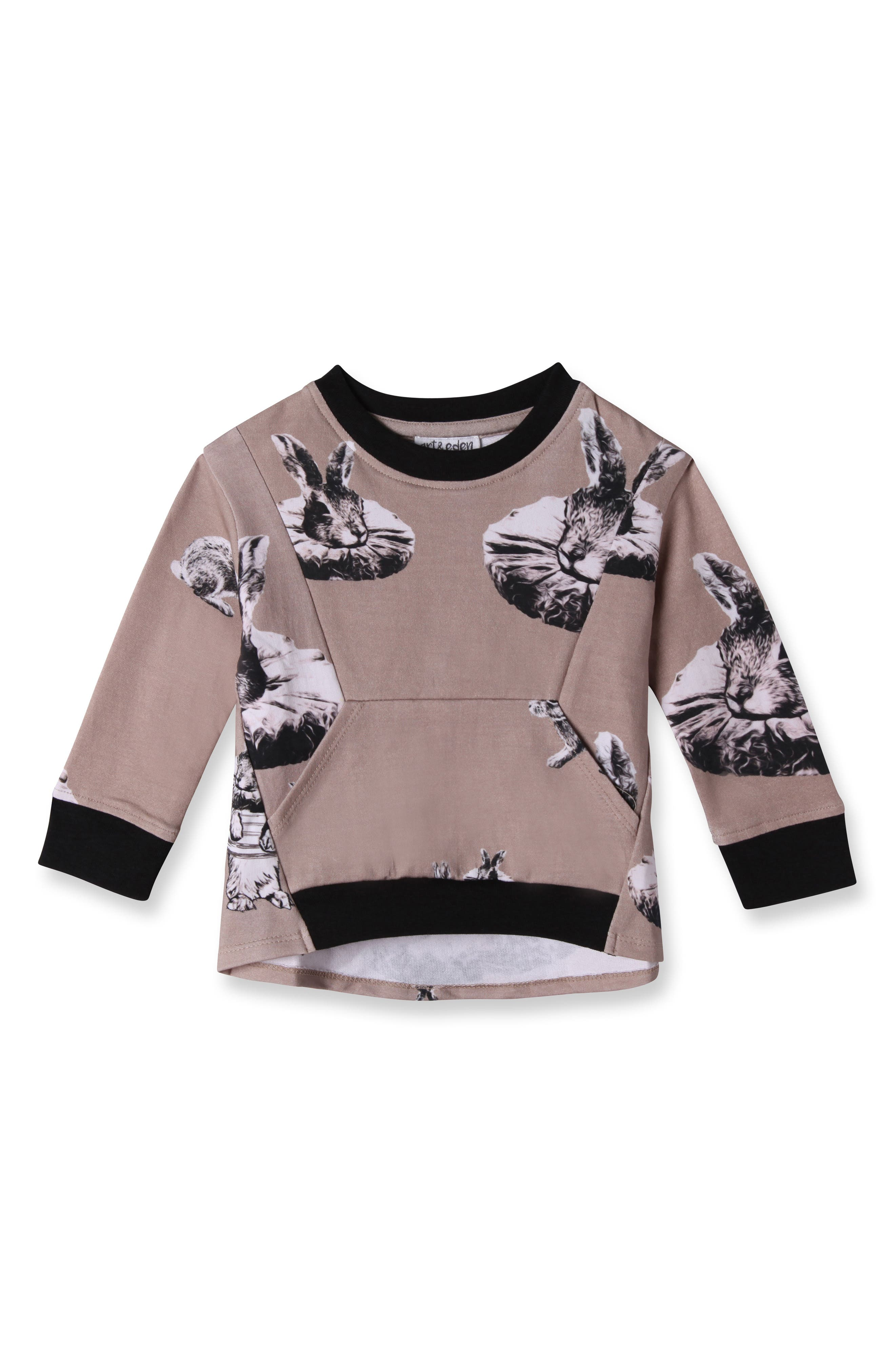 Alternate Image 1 Selected - Art & Eden Amelia Sweatshirt (Baby Girls)