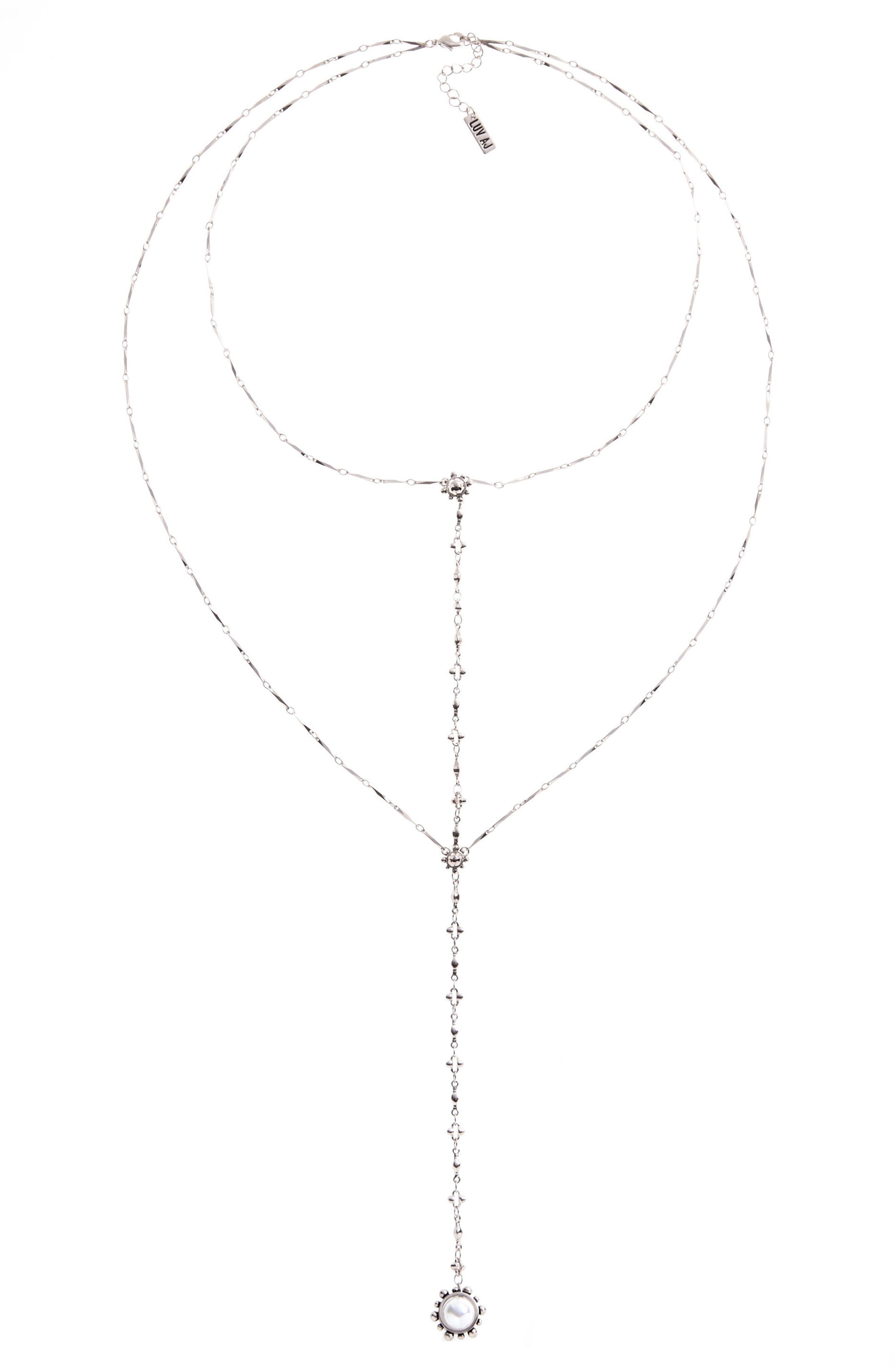 Lariat Necklace,                             Alternate thumbnail 5, color,                             Silver