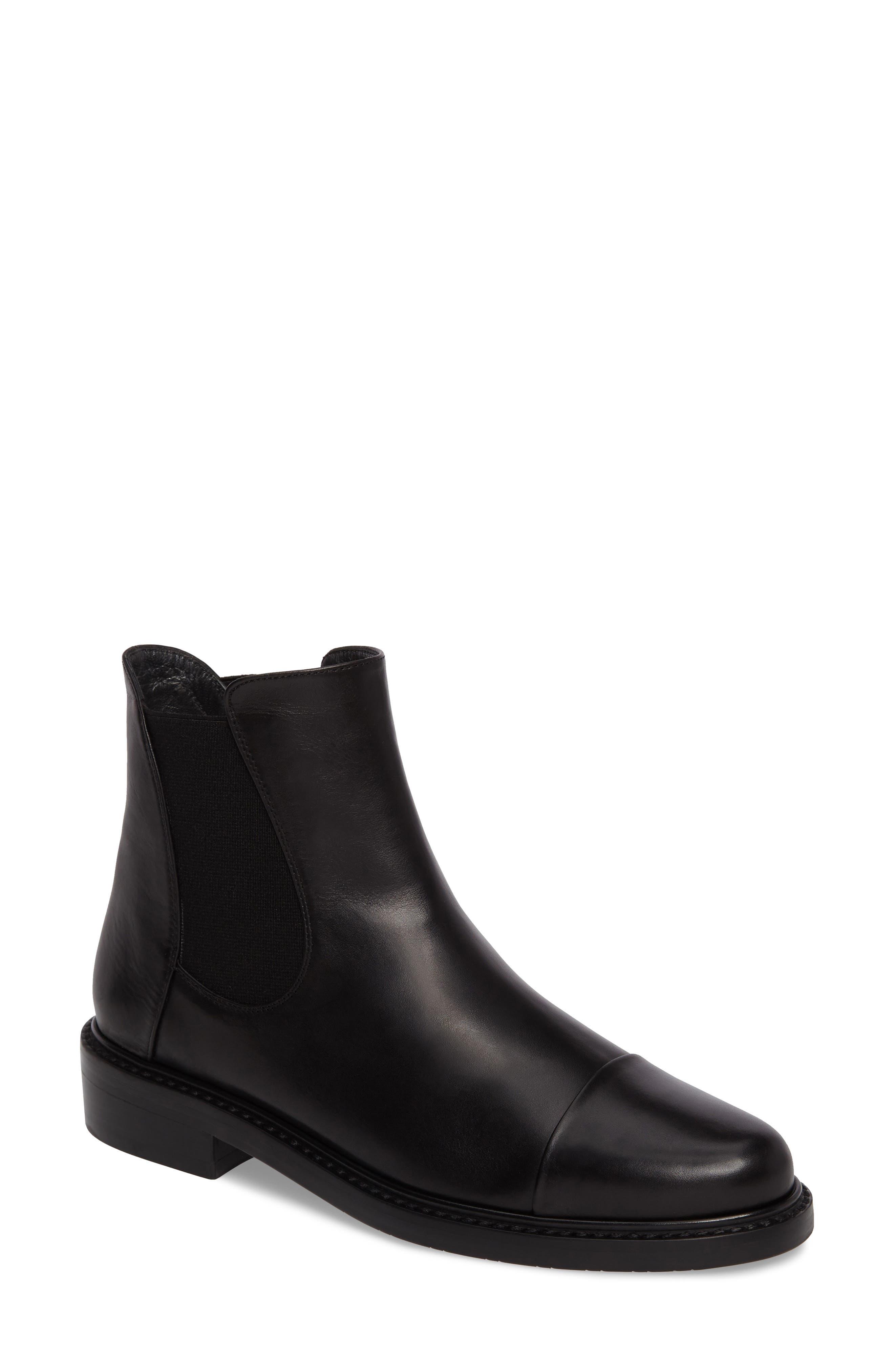 Gobi Cap Toe Chelsea Boot,                             Main thumbnail 1, color,                             Black Calf