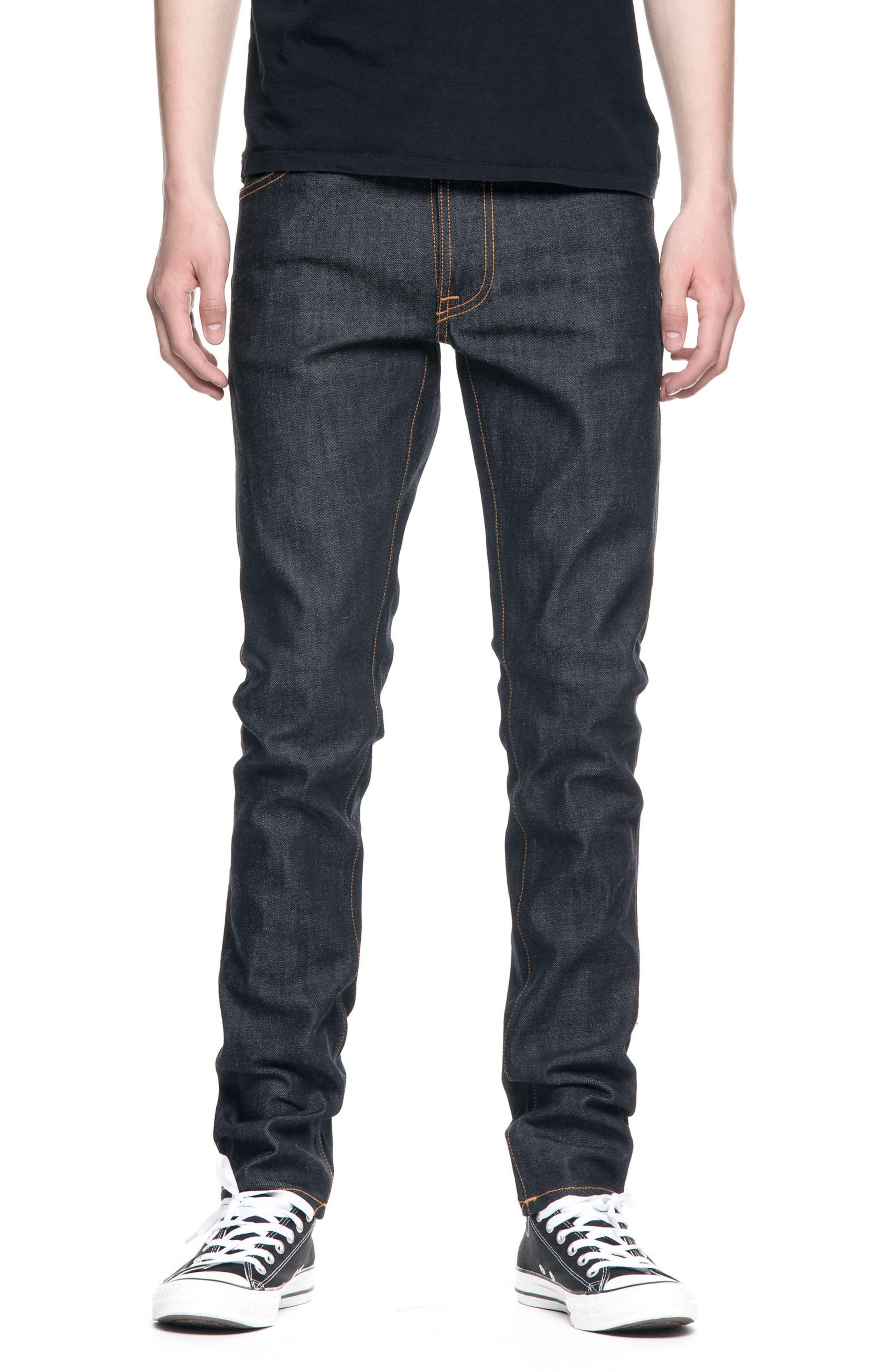 Nudie Jeans Lean Dean Slouchy Slim Fit Jeans (Dry Deep Layers)