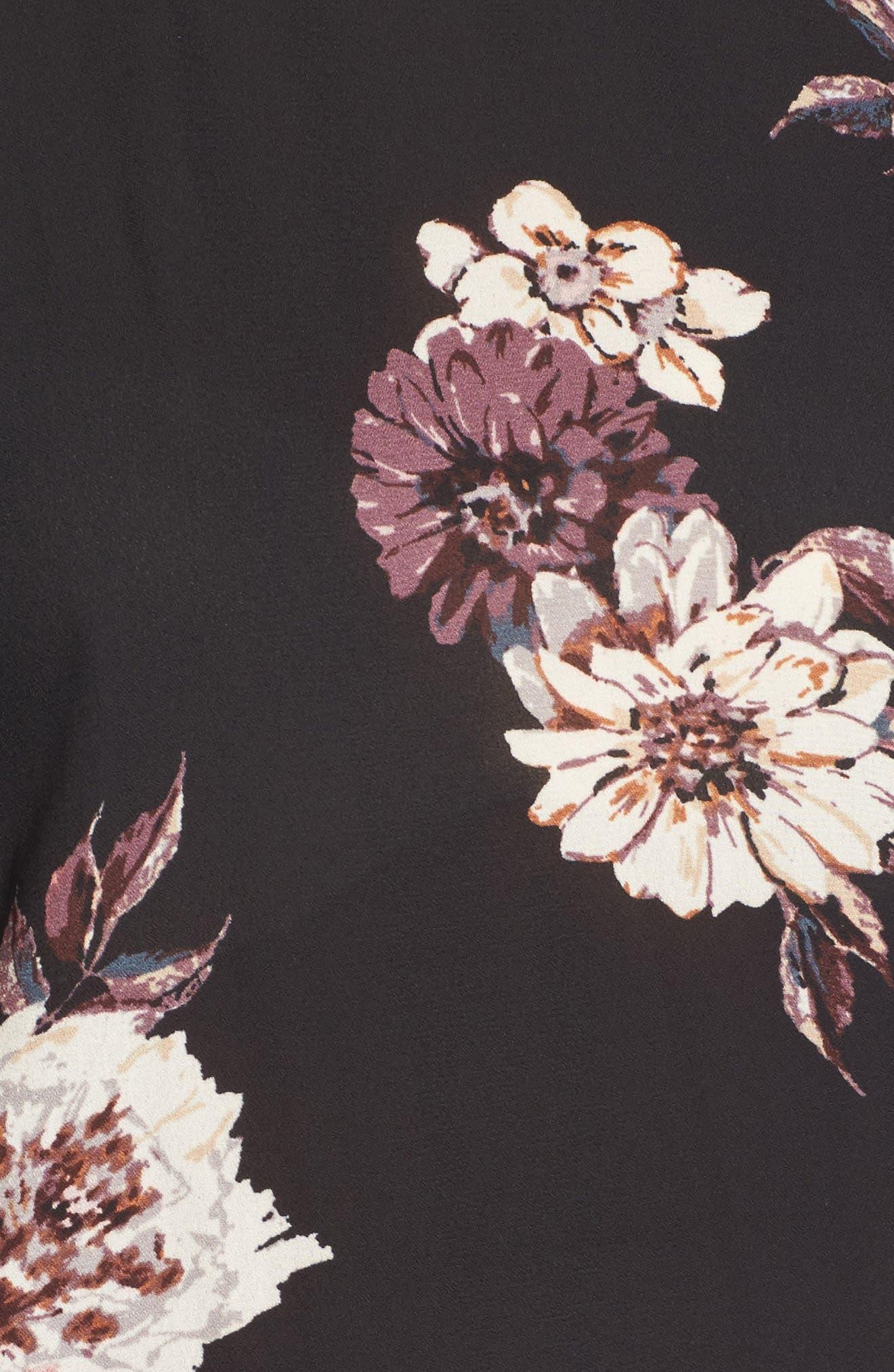 Alternate Image 5  - BP. Remix Floral Peplum Top