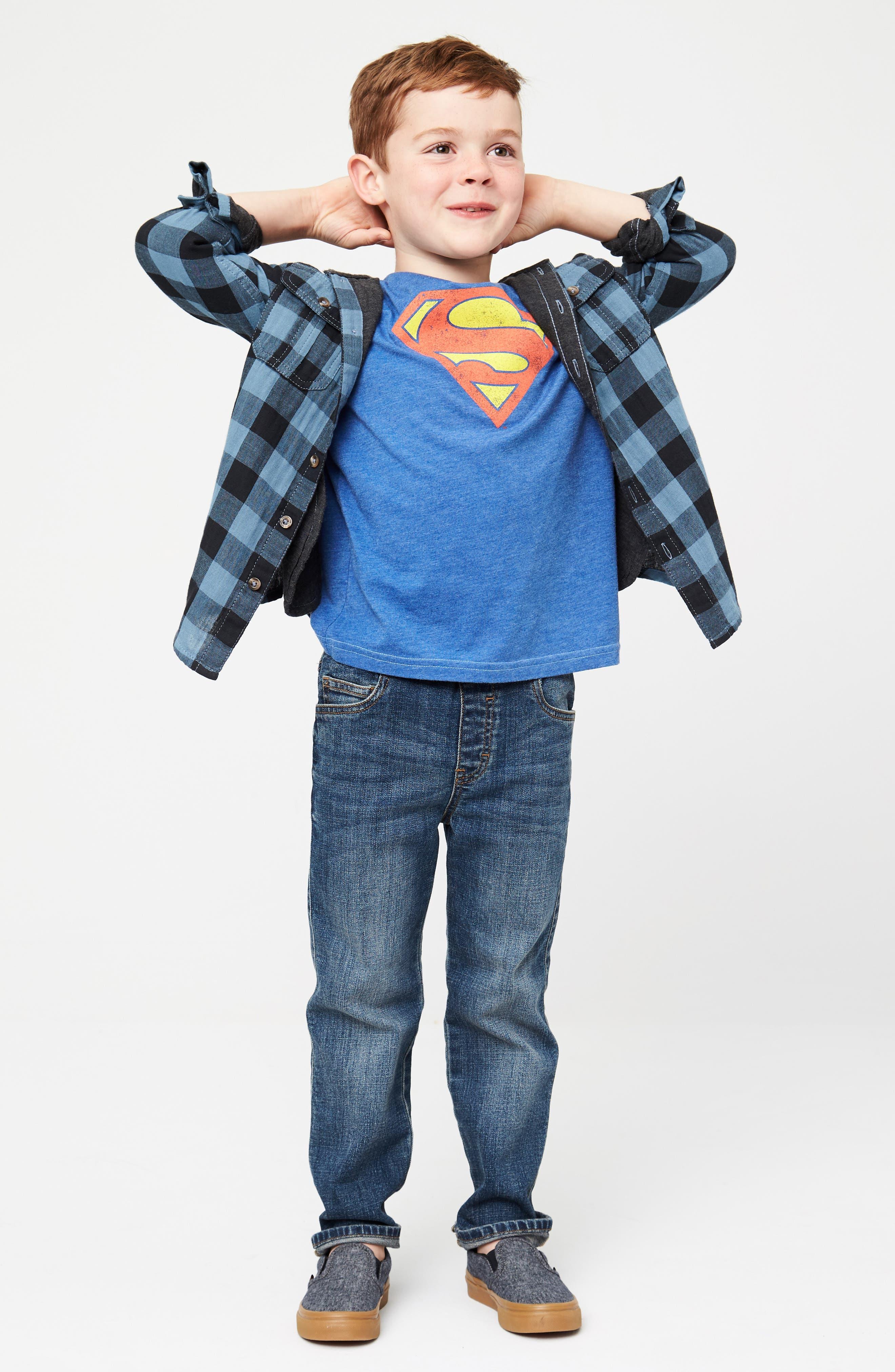 Alternate Image 3  - Jem Superman Graphic T-Shirt (Toddler Boys, Little Boys & Big Boys)