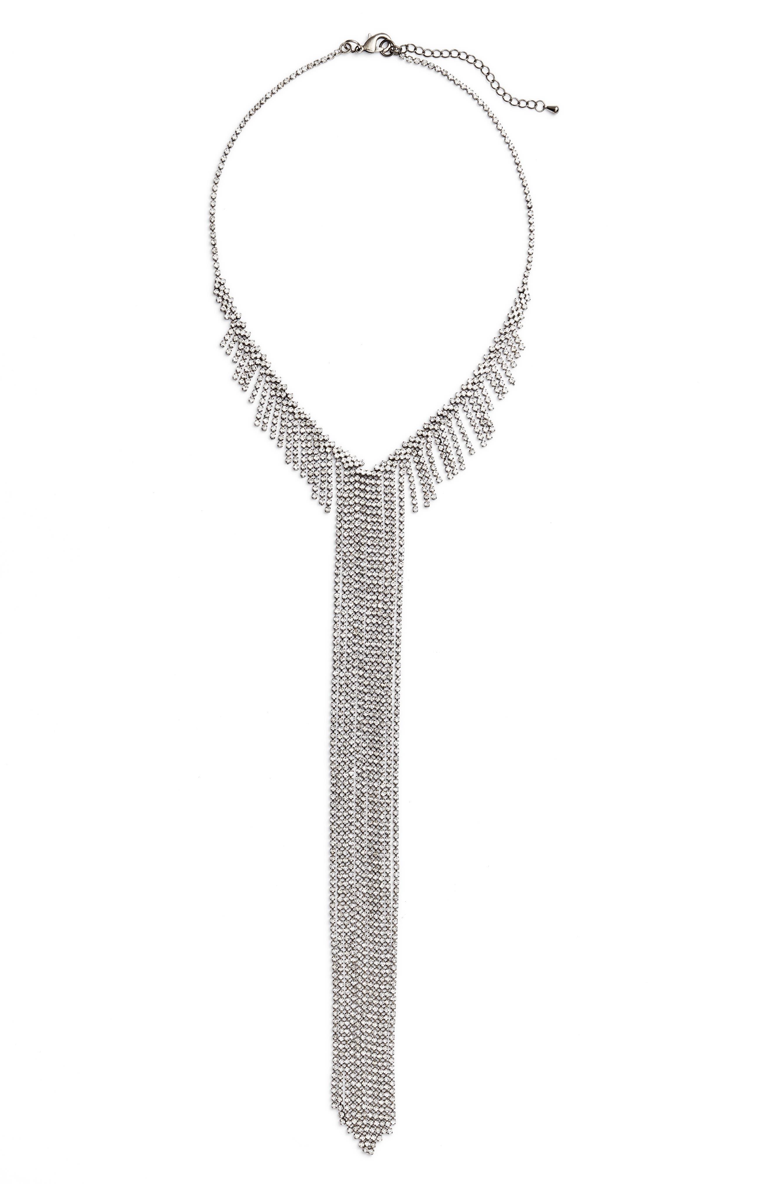 Alternate Image 1 Selected - CRISTABELLE Fringe Frontal Necklace