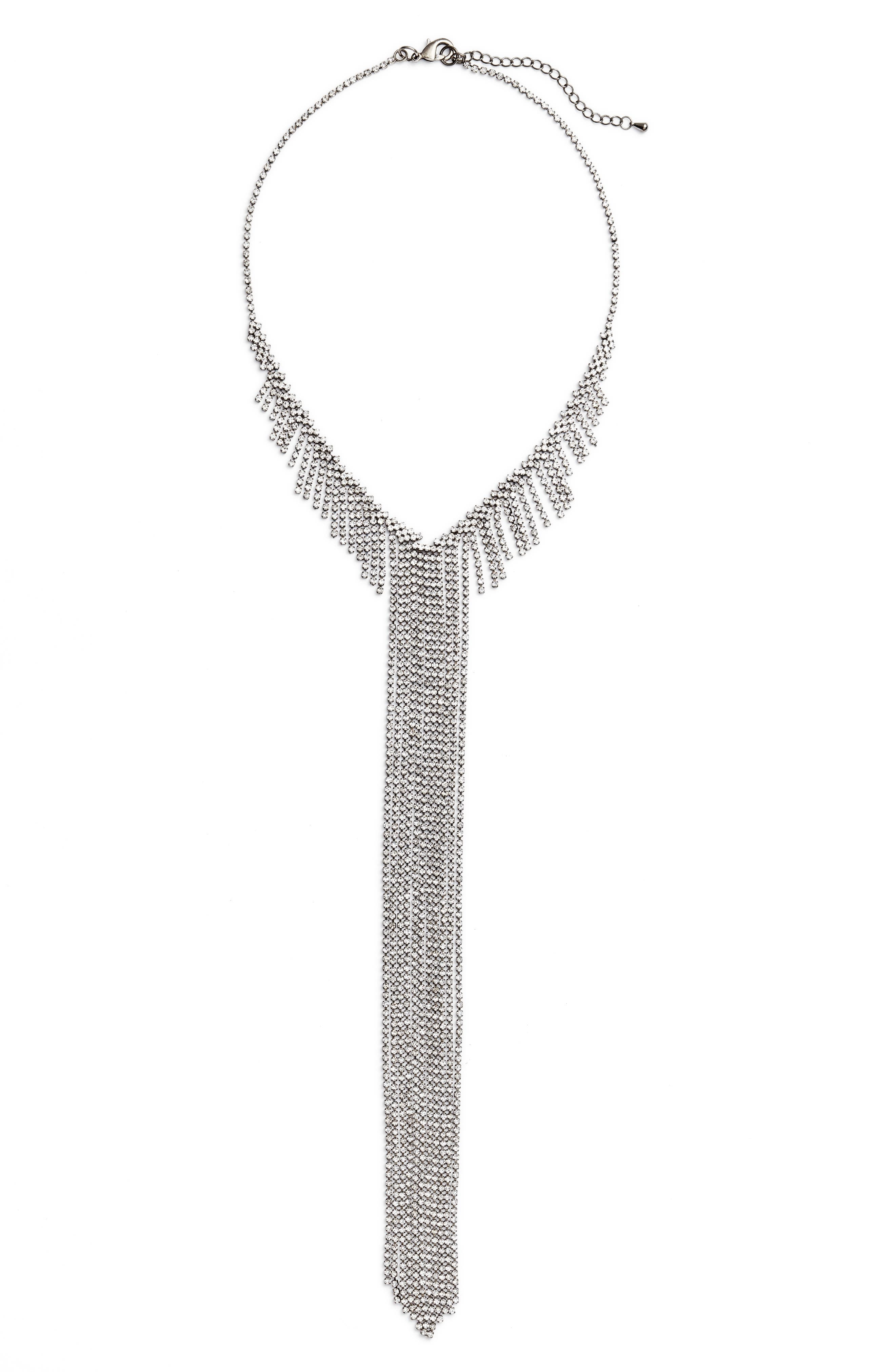 Main Image - CRISTABELLE Fringe Frontal Necklace