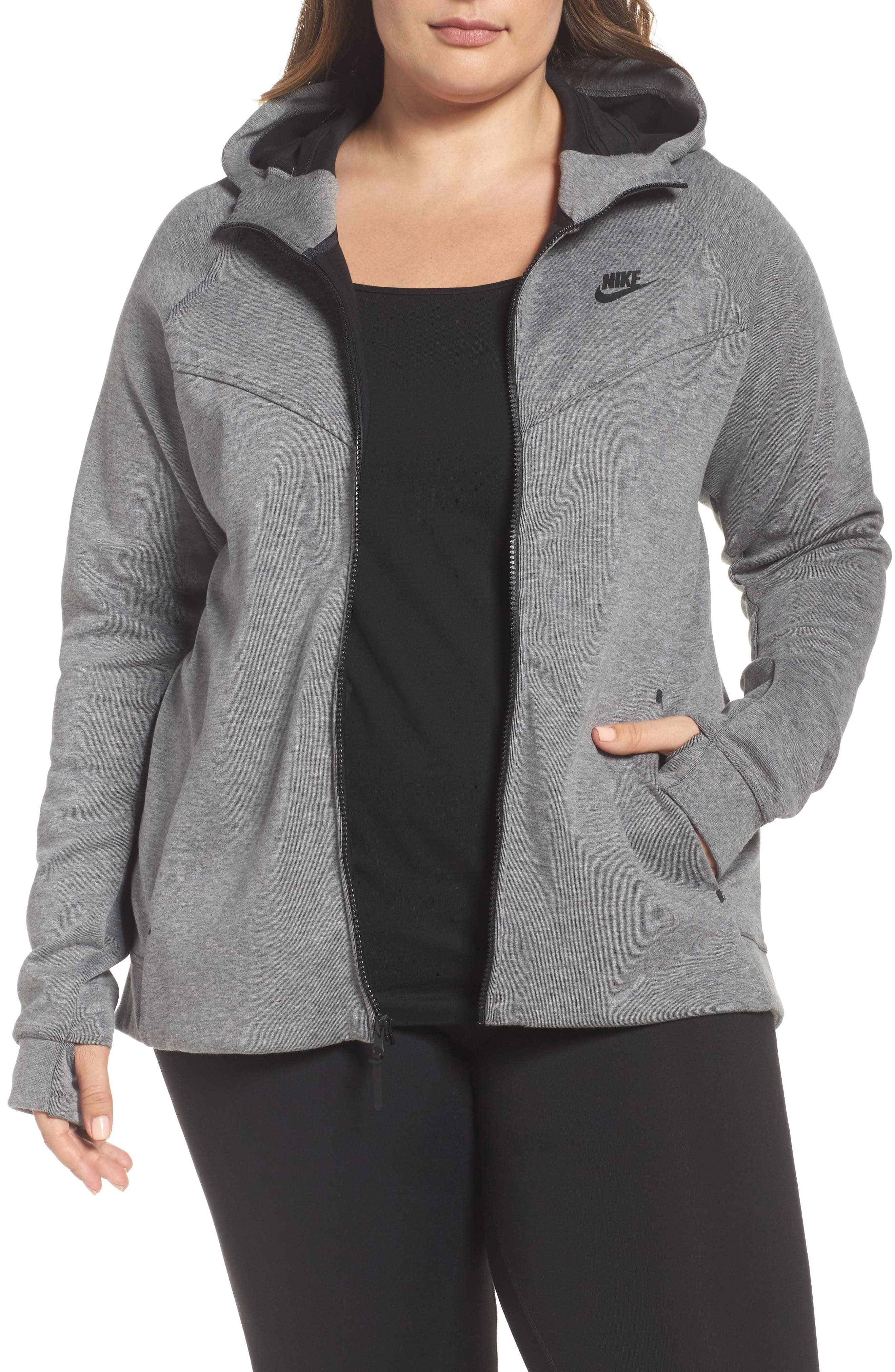 Alternate Image 1 Selected - Nike Tech Fleece Hoodie (Plus Size)