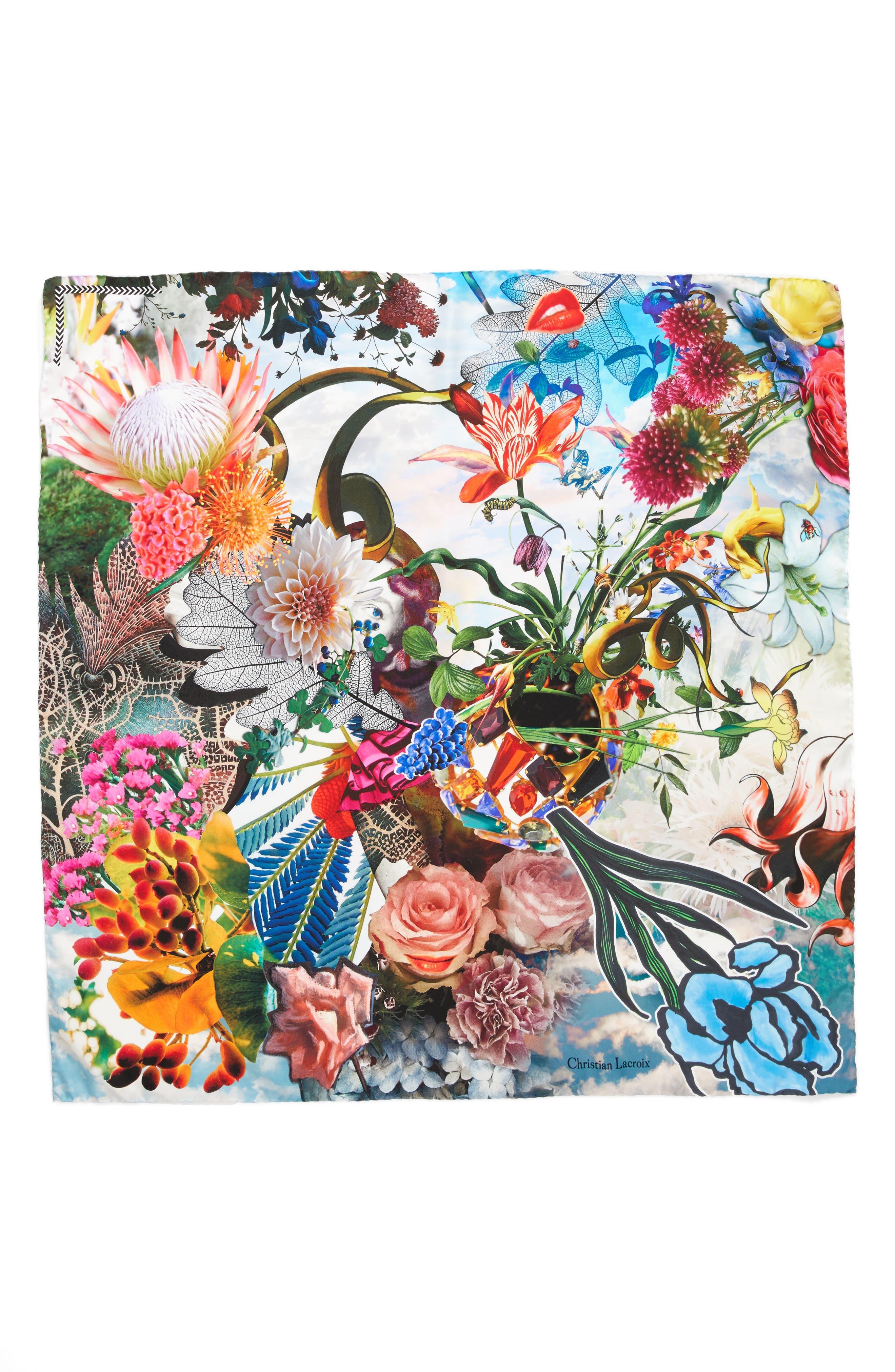 Christian Lacroix Flower Utopia Silk Square Scarf