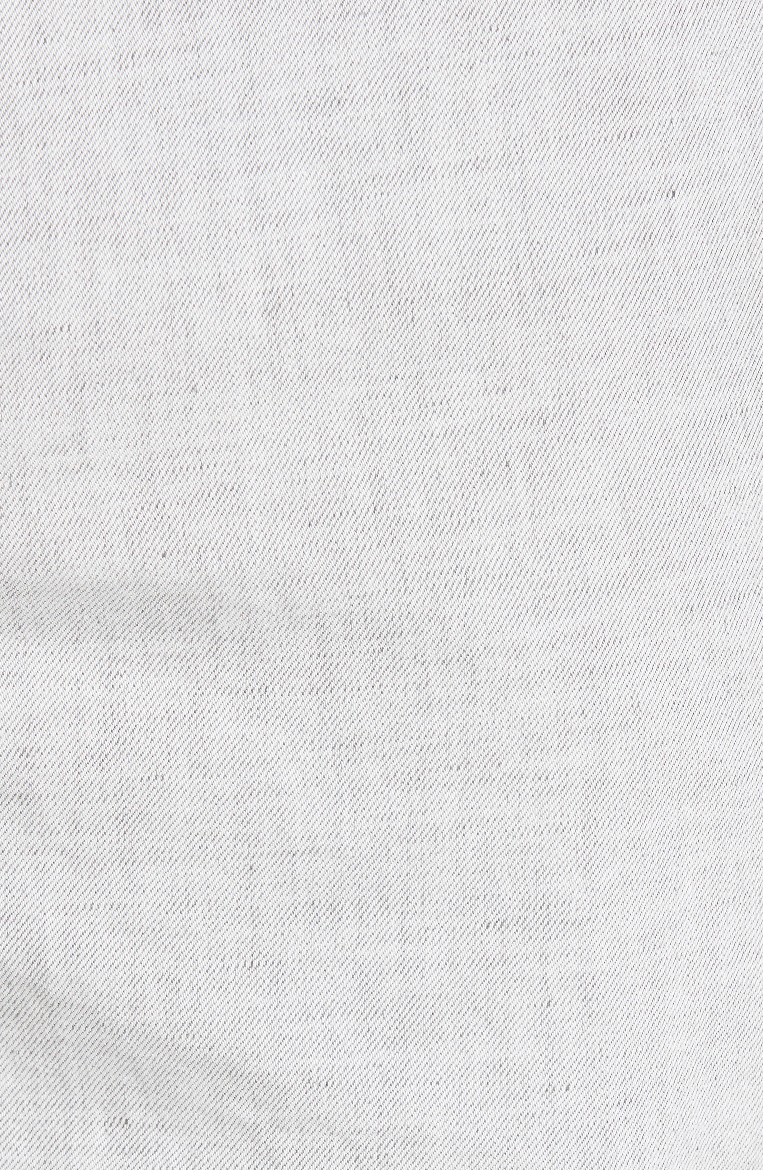 Frisho Cuff Denim Shorts,                             Alternate thumbnail 6, color,                             Light Grey
