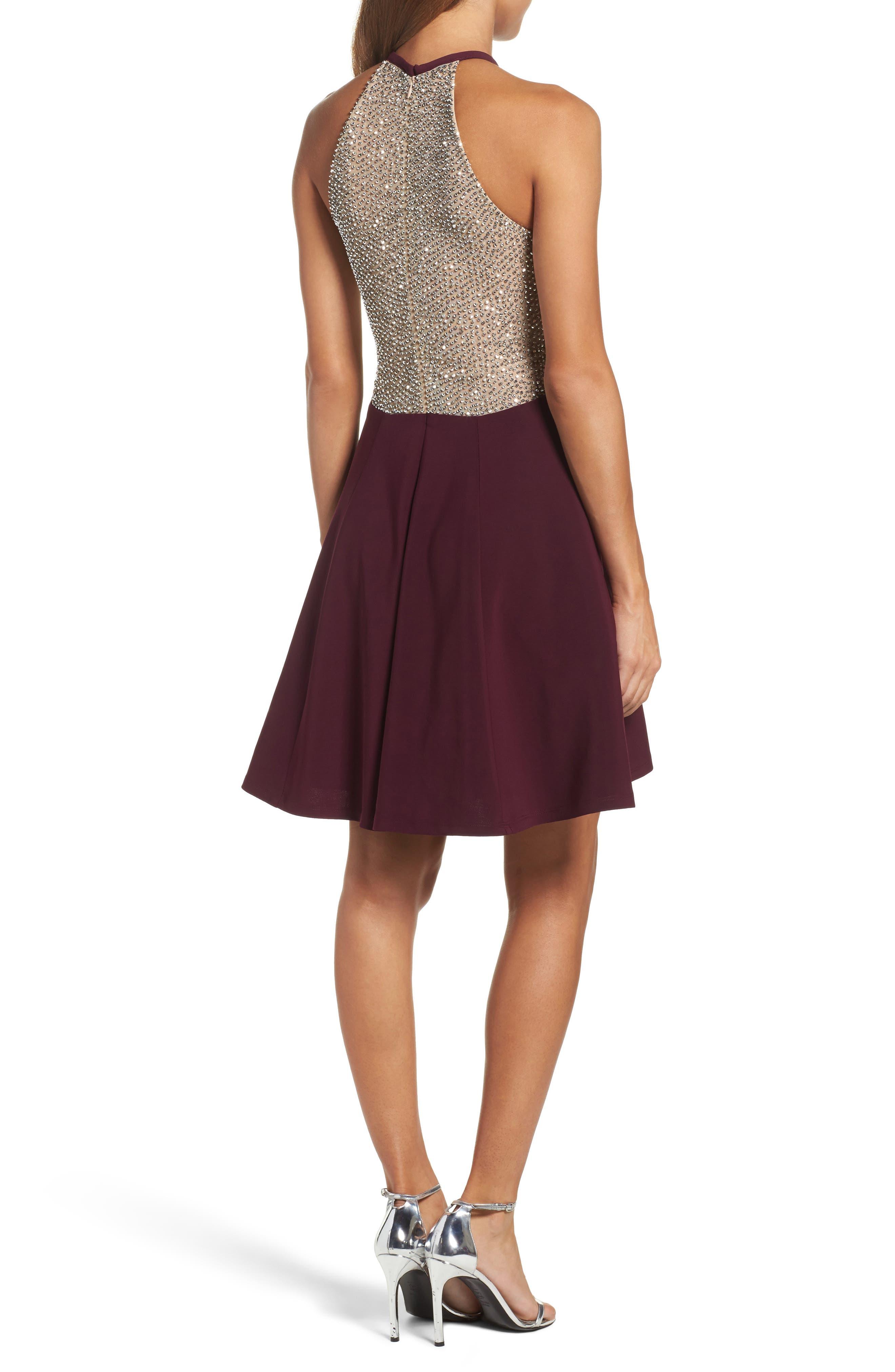 Alternate Image 2  - Xscape Beaded Jersey Party Dress