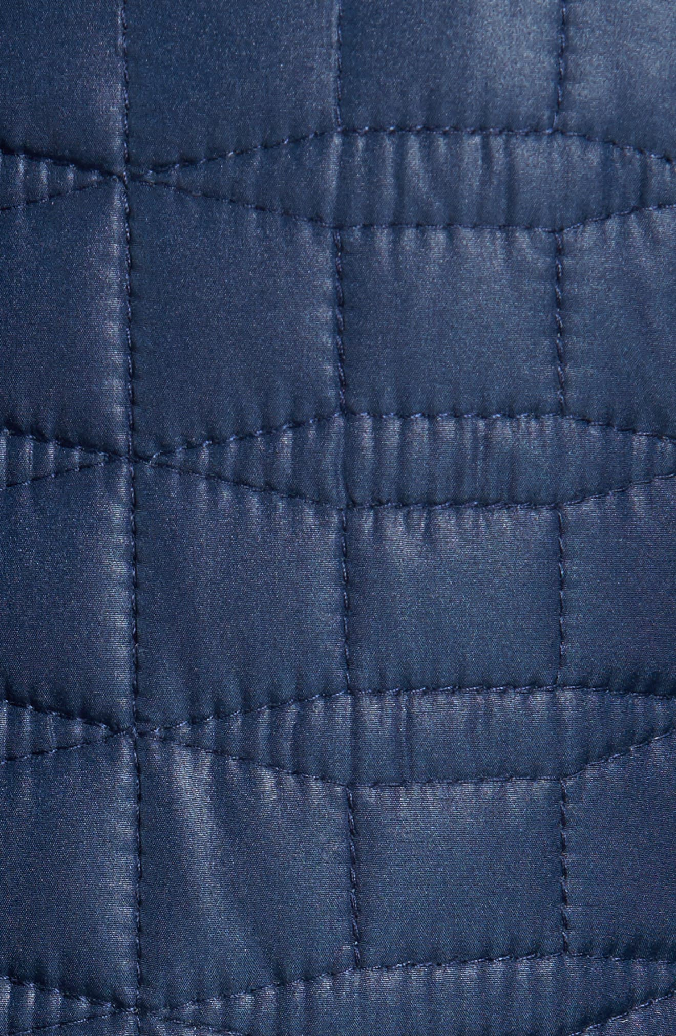 water resistant quilted coat,                             Alternate thumbnail 5, color,                             Rich Navy