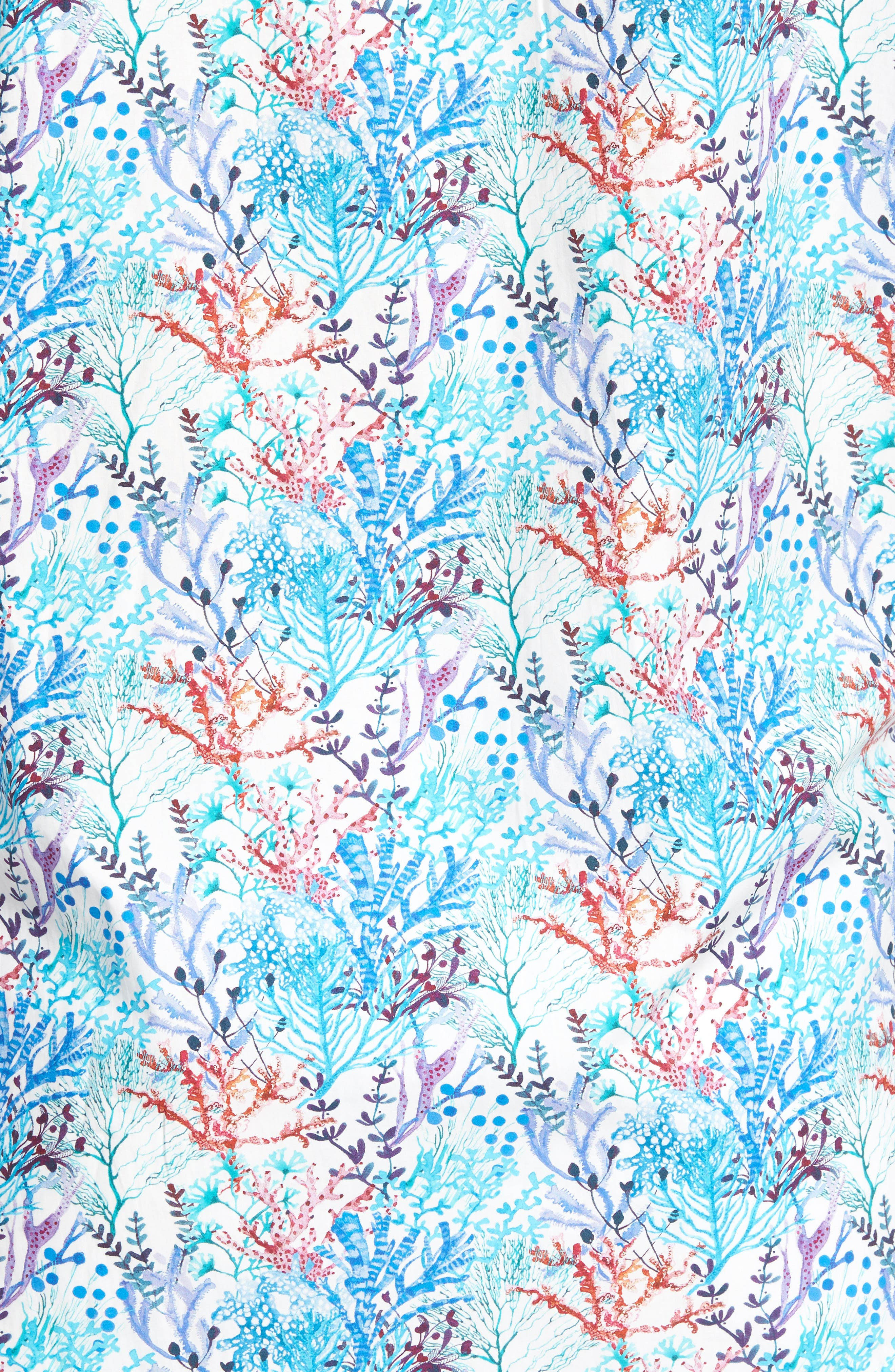 Alternate Image 5  - Bugatchi Classic Fit Floral Print Sport Shirt
