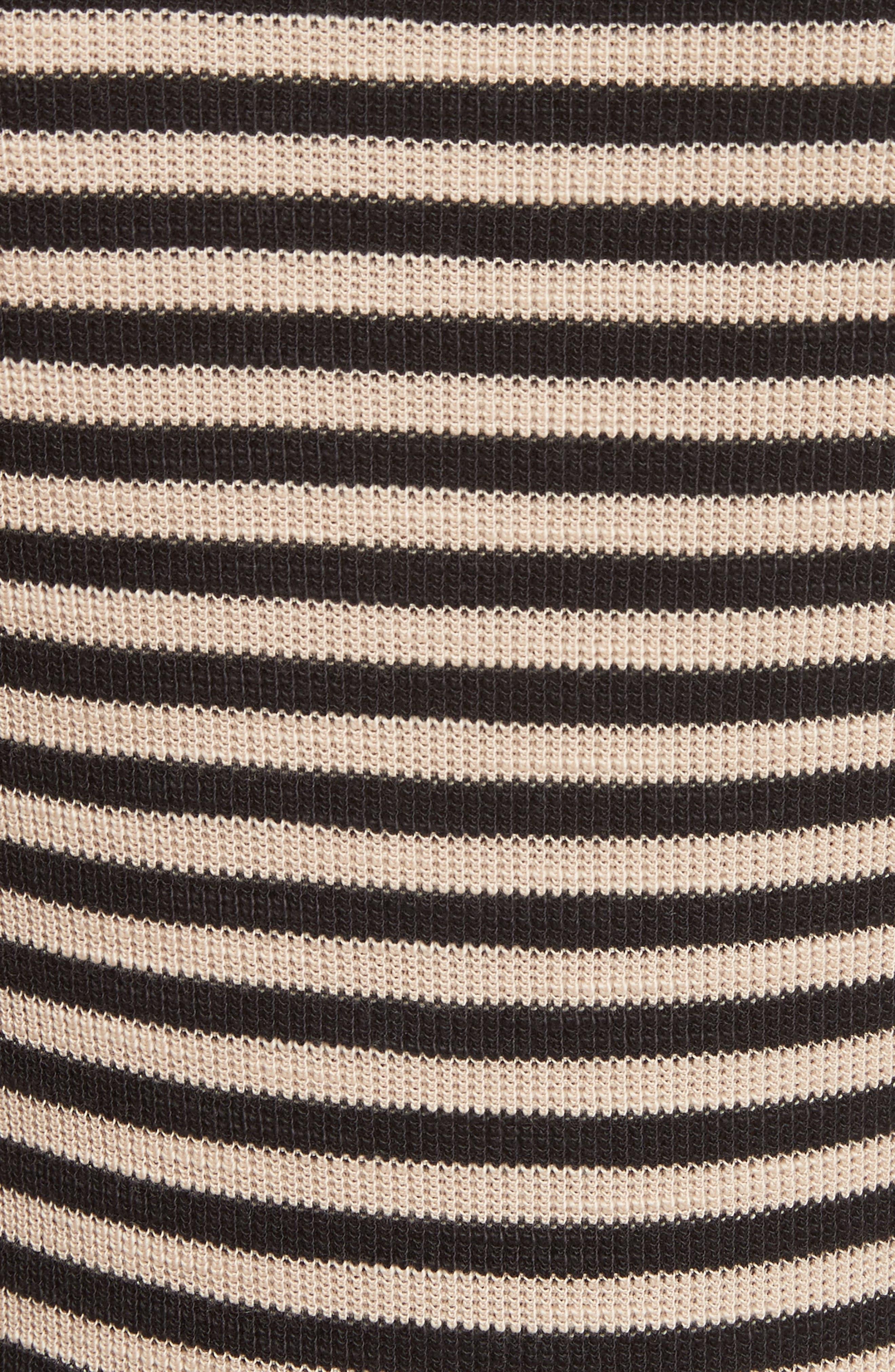 Railroad Stripe Crewneck Sweater,                             Alternate thumbnail 7, color,                             Taupe/ Black