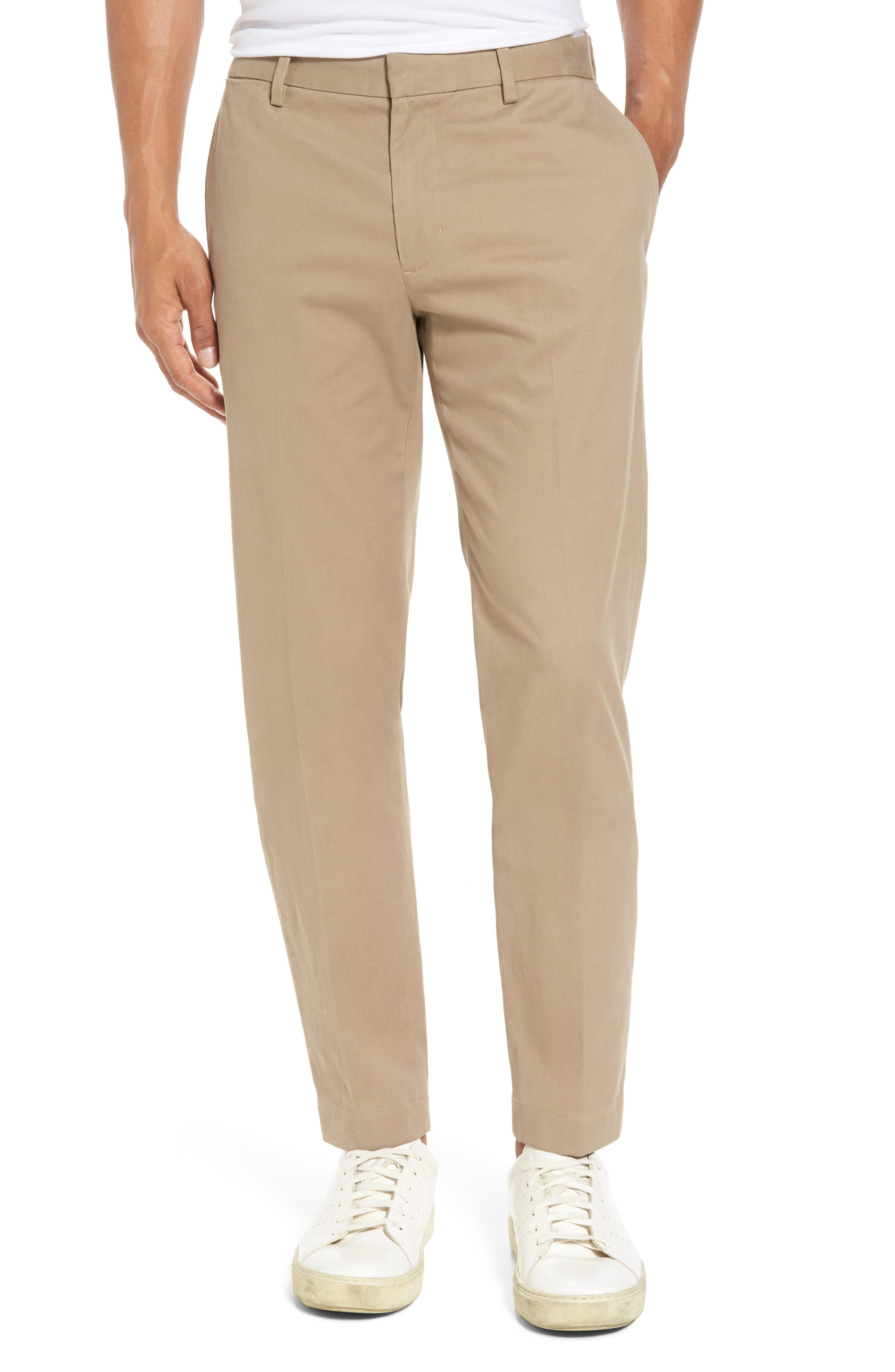 Slim Chinos,                         Main,                         color, Khaki