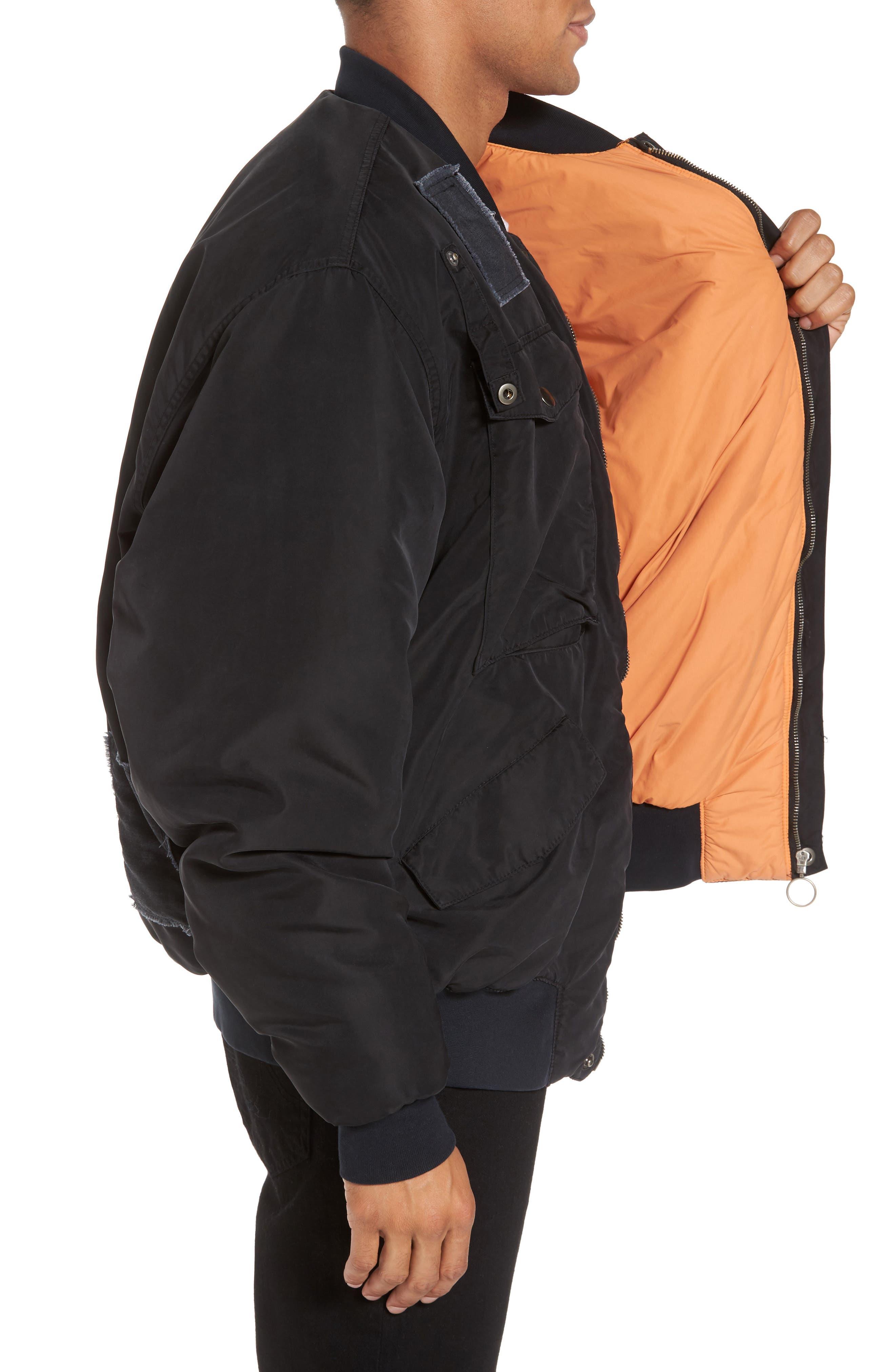 Alternate Image 3  - Hudson Jeans Echo Oversize Bomber Jacket