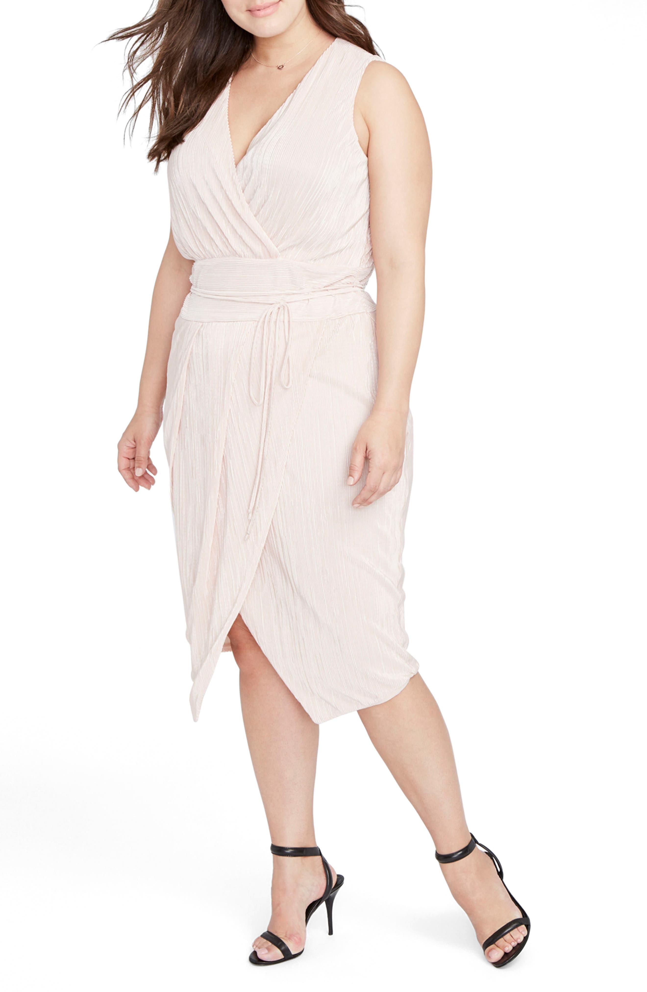 Alternate Image 3  - RACHEL Rachel Roy Foiled Faux Wrap Dress (Plus Size)