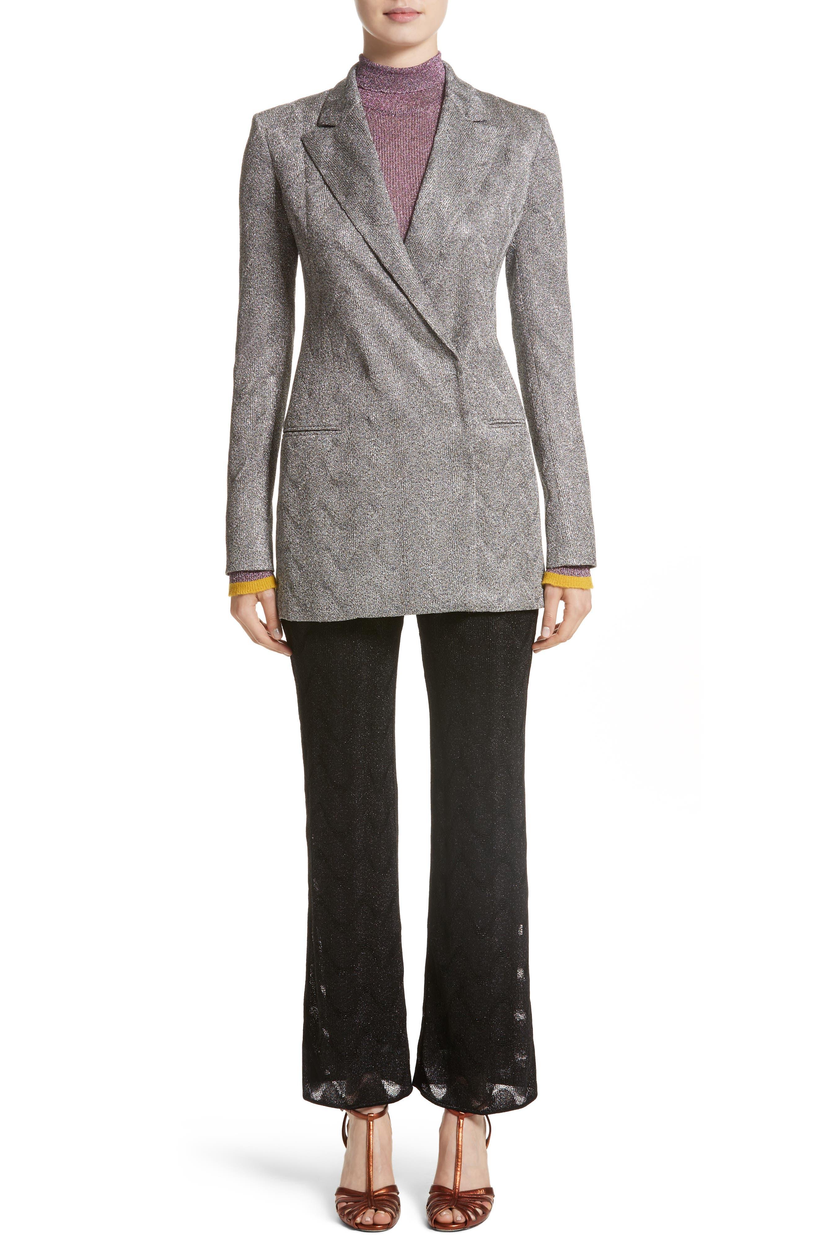 Alternate Image 7  - Missoni Metallic Knit Double Breasted Jacket