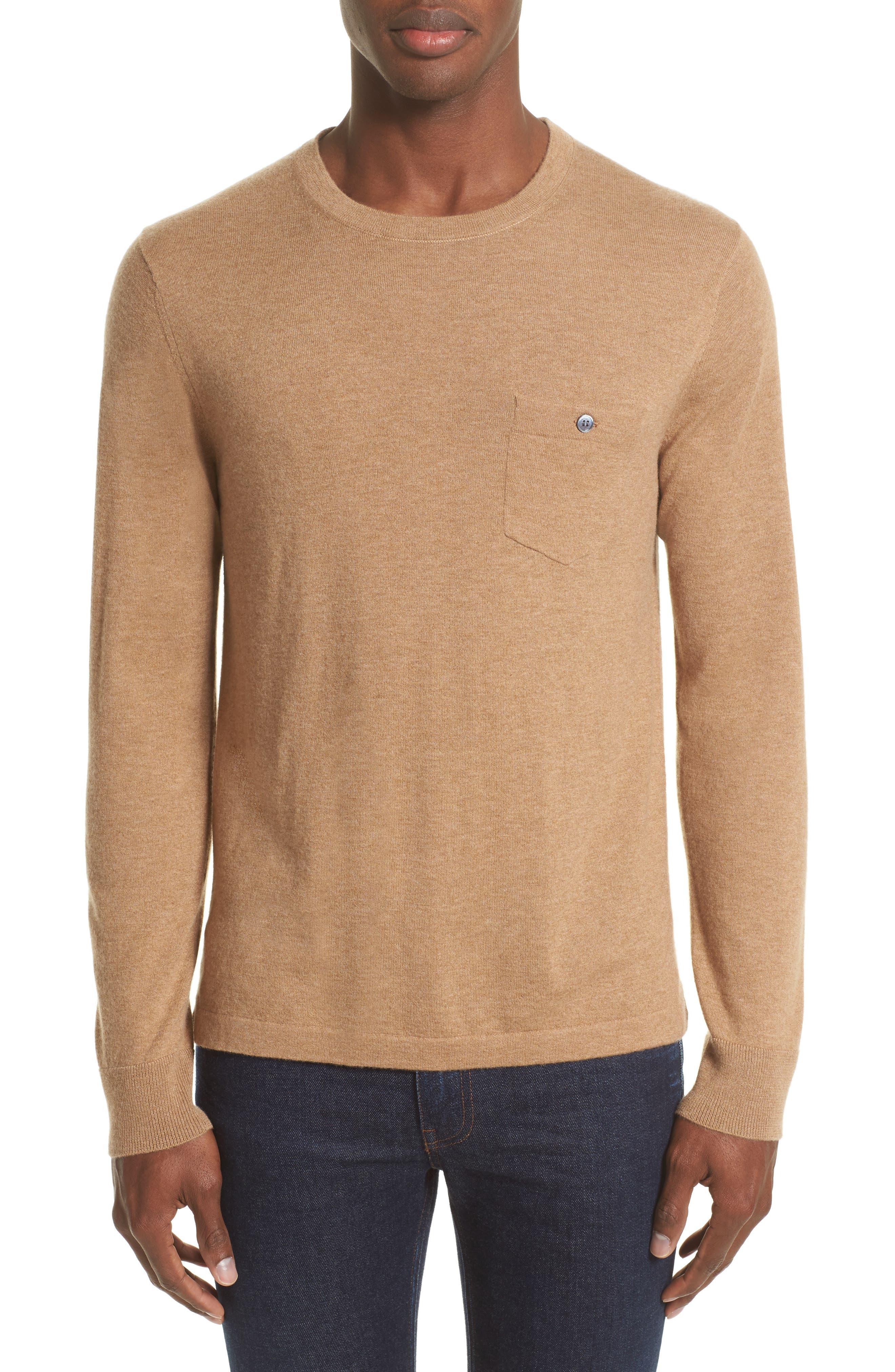 Cashmere Pocket T-Shirt,                         Main,                         color, Camel