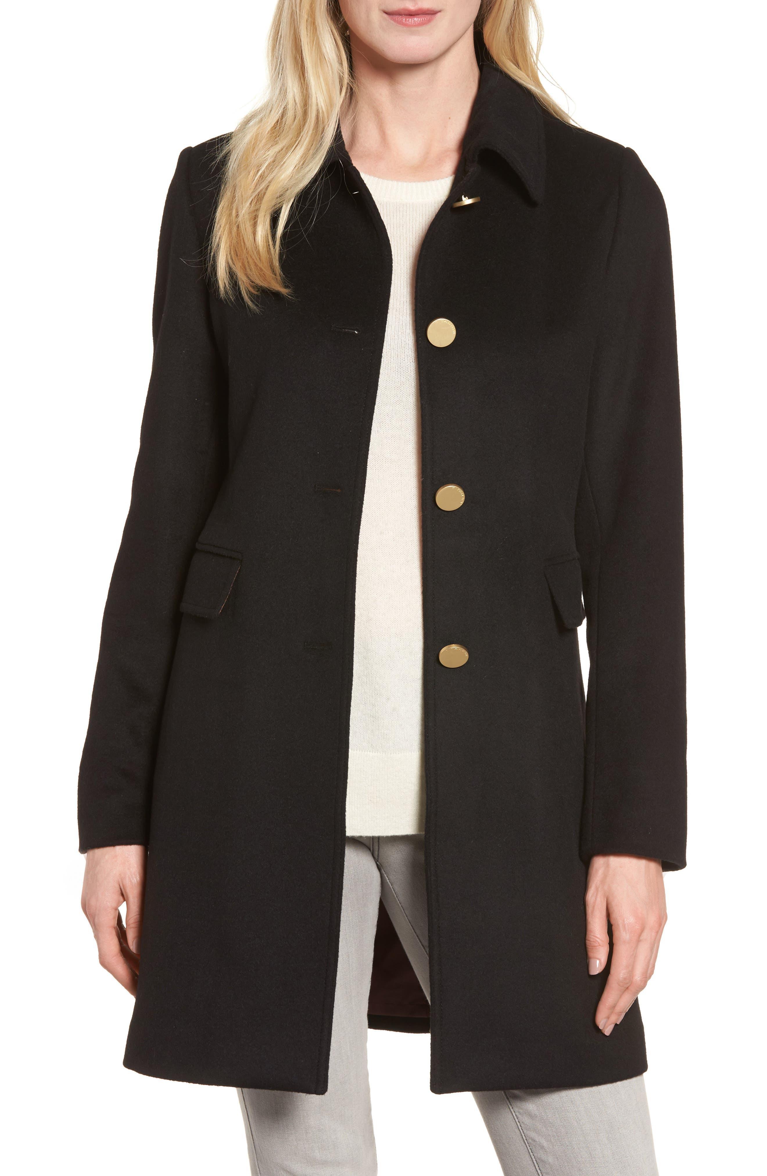 Main Image - Tahari Sophia Wool A-Line Coat