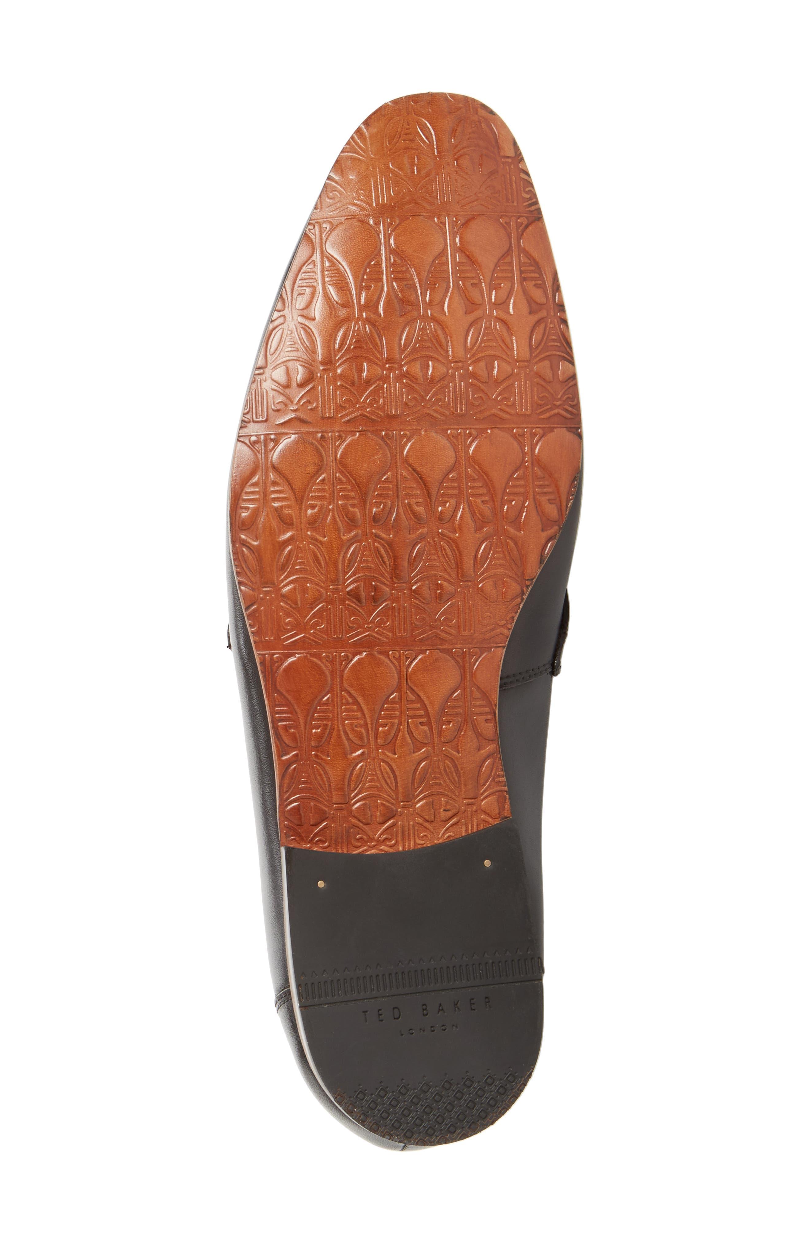 Grafit Tassel Loafer,                             Alternate thumbnail 5, color,                             Black Leather