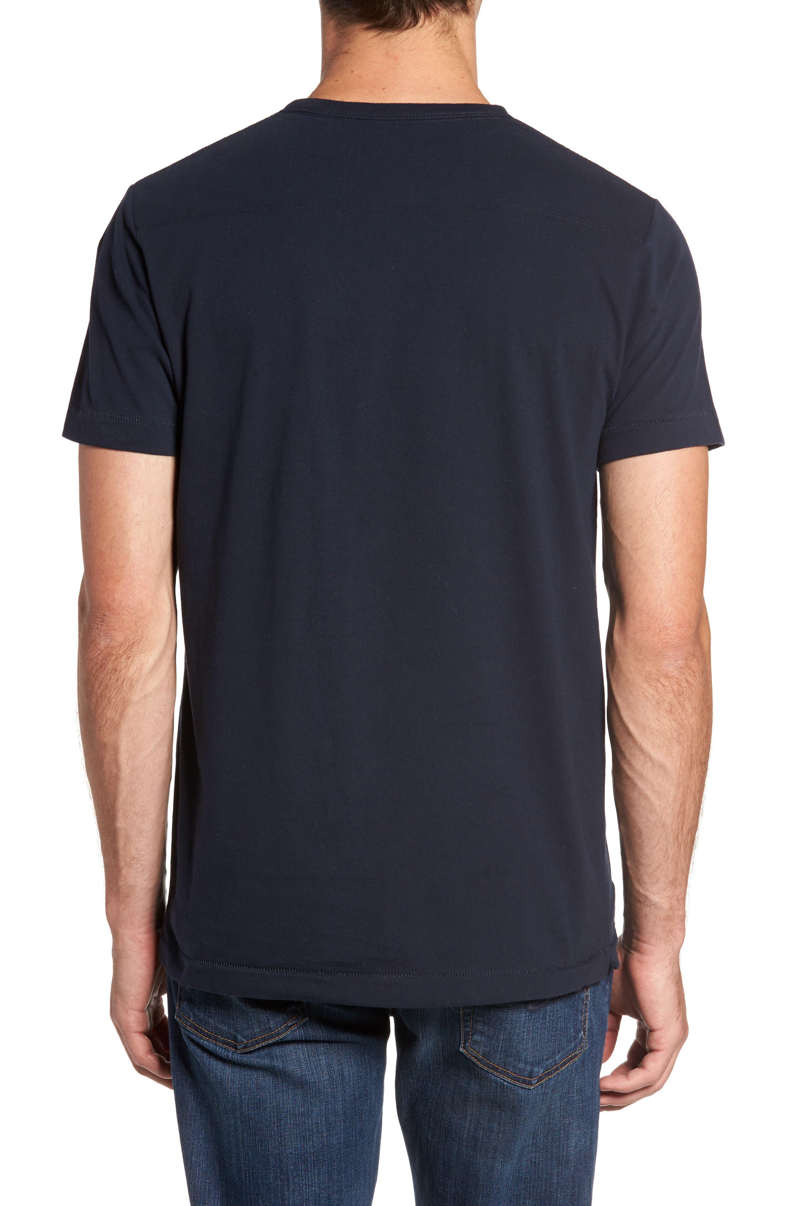 Comme Ci Comme Ça Regular Fit T-Shirt,                             Alternate thumbnail 2, color,                             Marine Blue/ White