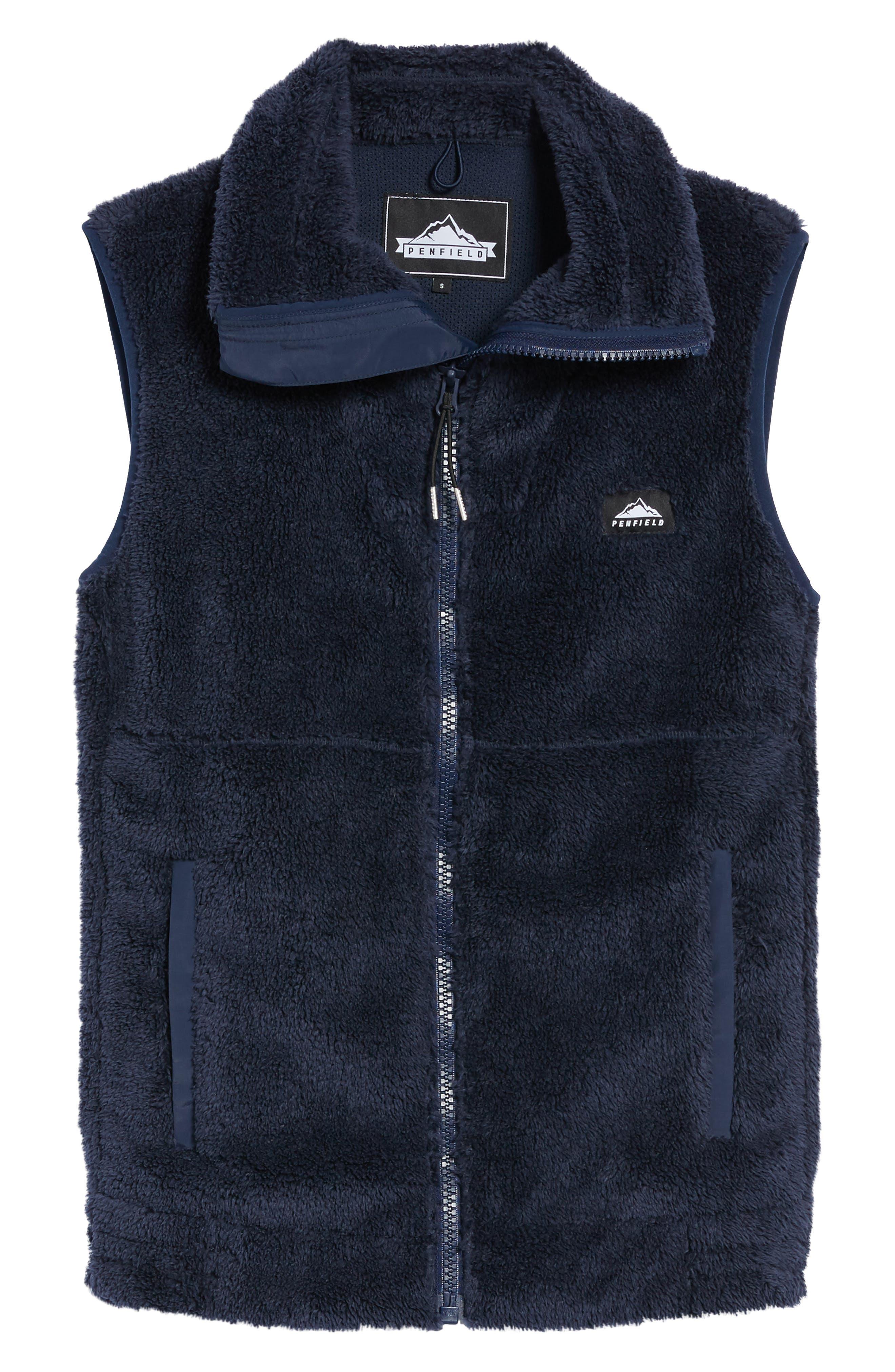 Fleece Vest,                             Alternate thumbnail 6, color,                             Navy