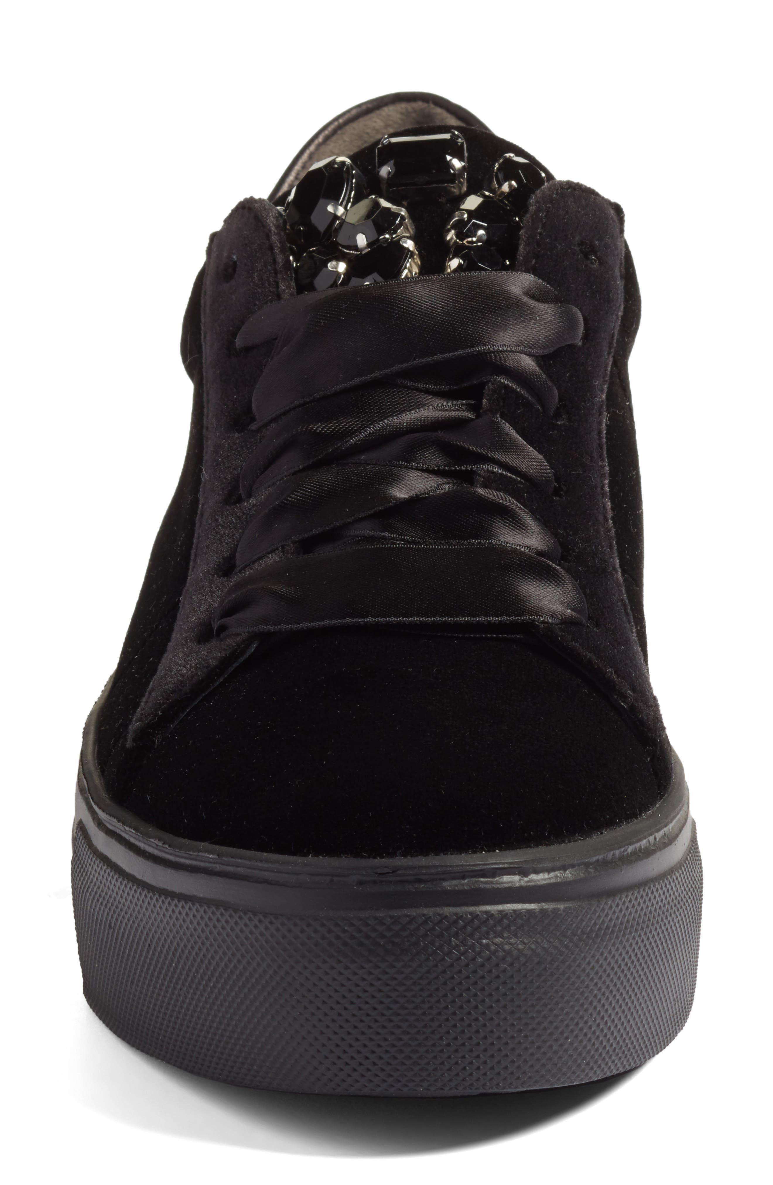 Alternate Image 4  - Kennel & Schmenger Big Velvet Lace-Up Sneaker (Women)