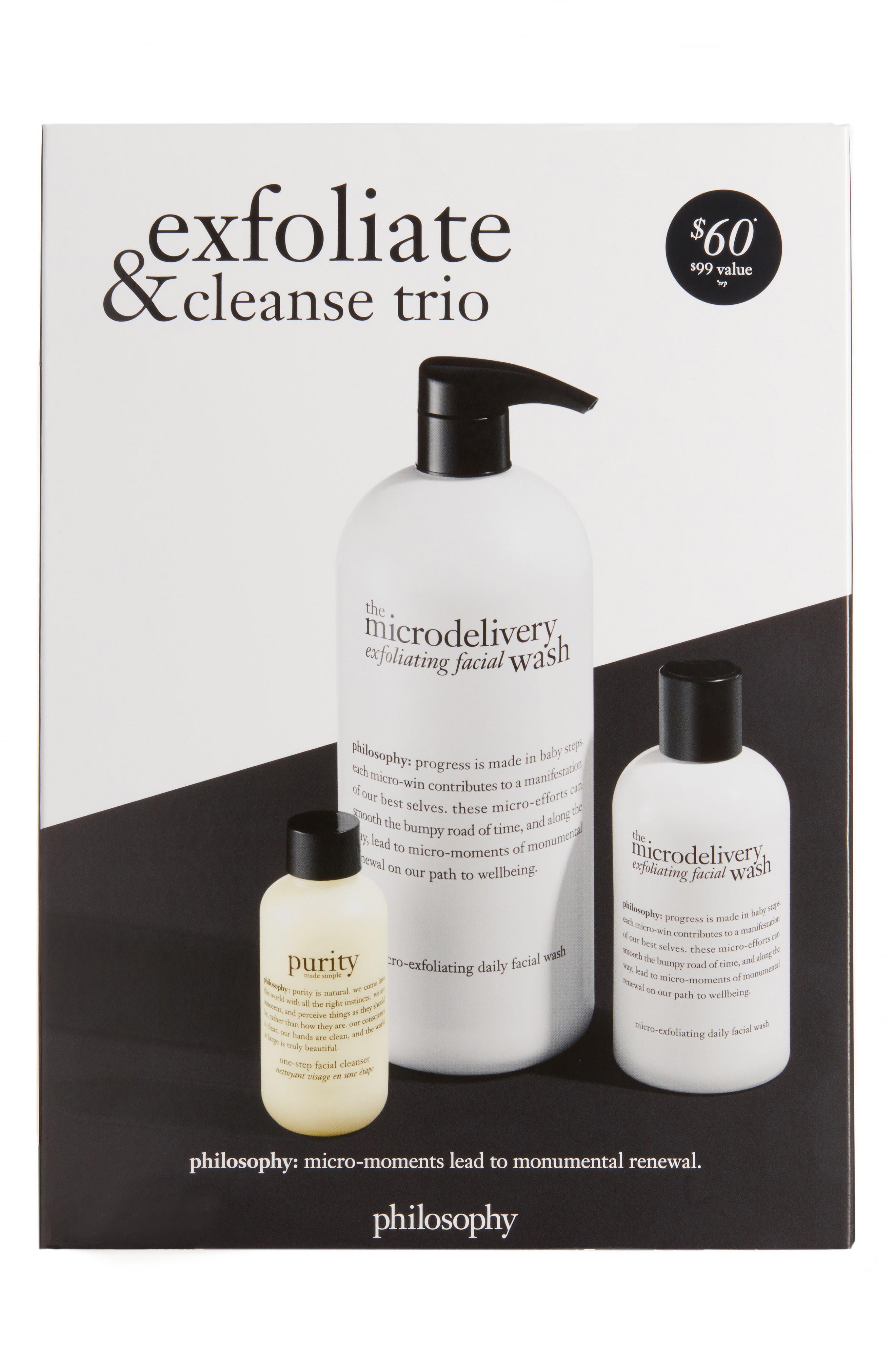 Alternate Image 1 Selected - philosophy exfoliate & cleanse trio (Nordstrom Exclusive) ($99 Value)