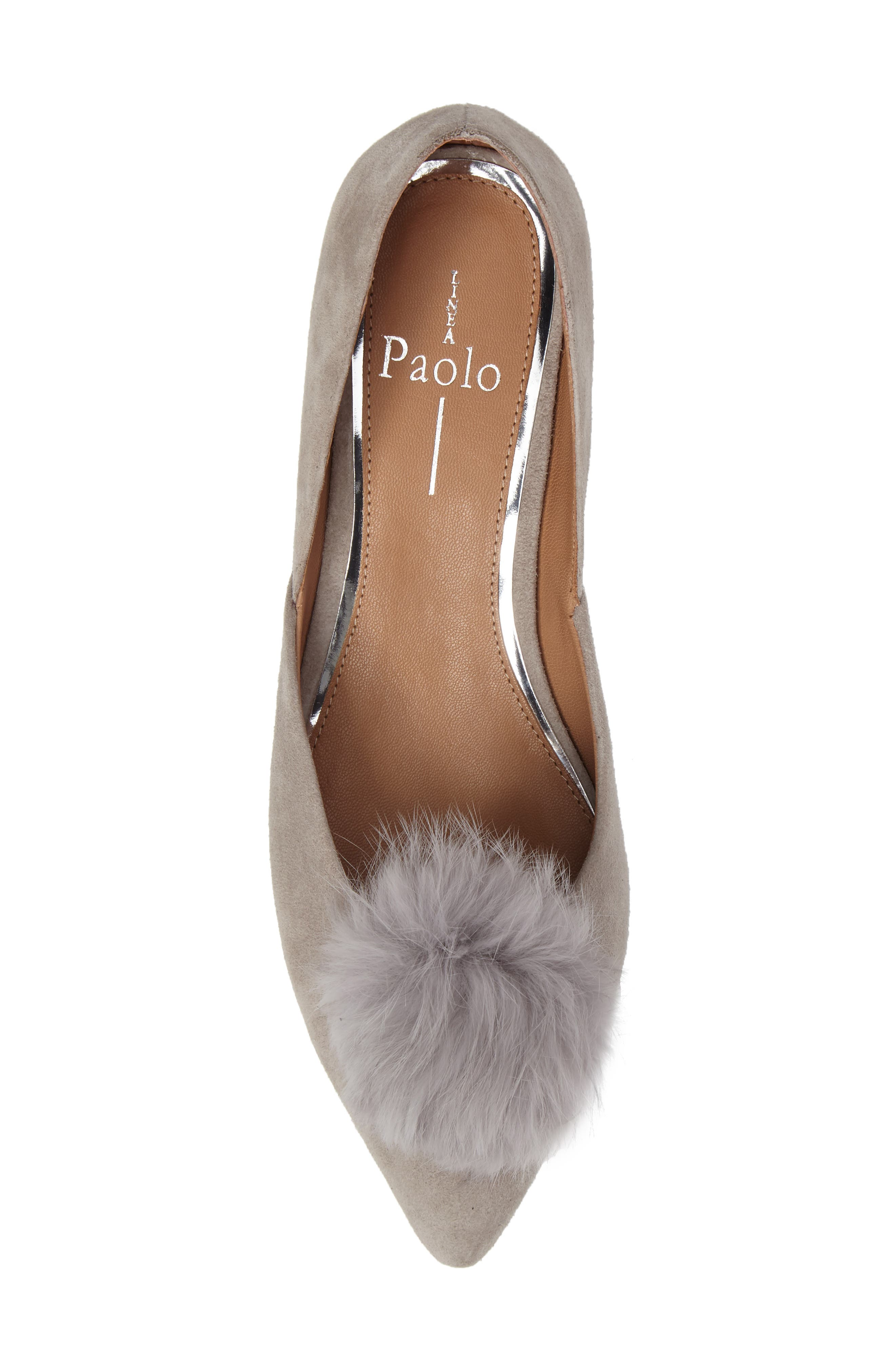 Alternate Image 5  - Linea Paolo Camille Pump with Genuine Rabbit Fur Pom (Women)