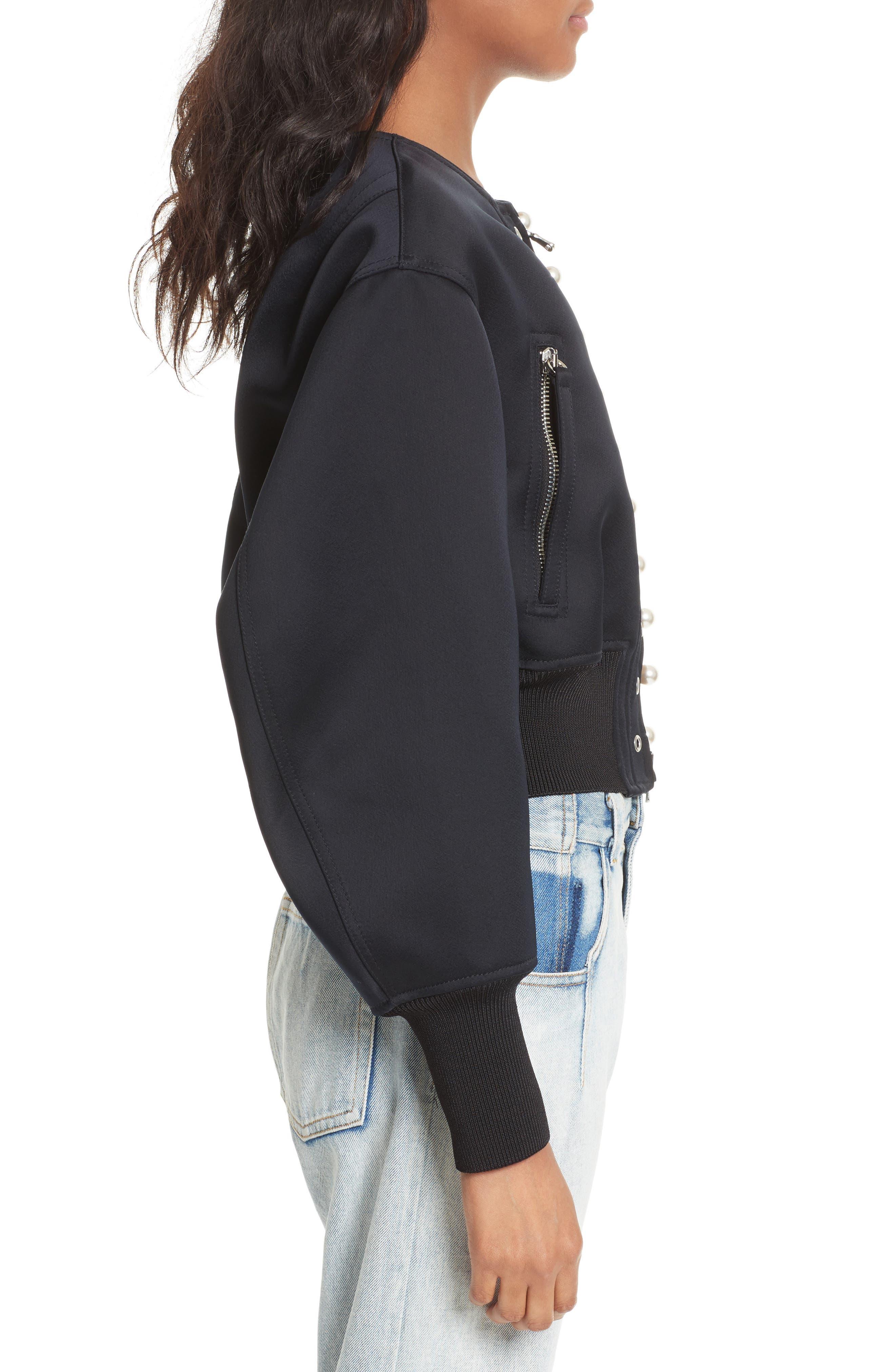 Alternate Image 3  - 3.1 Phillip Lim Grommet & Faux Pearl Embellished Bomber Jacket