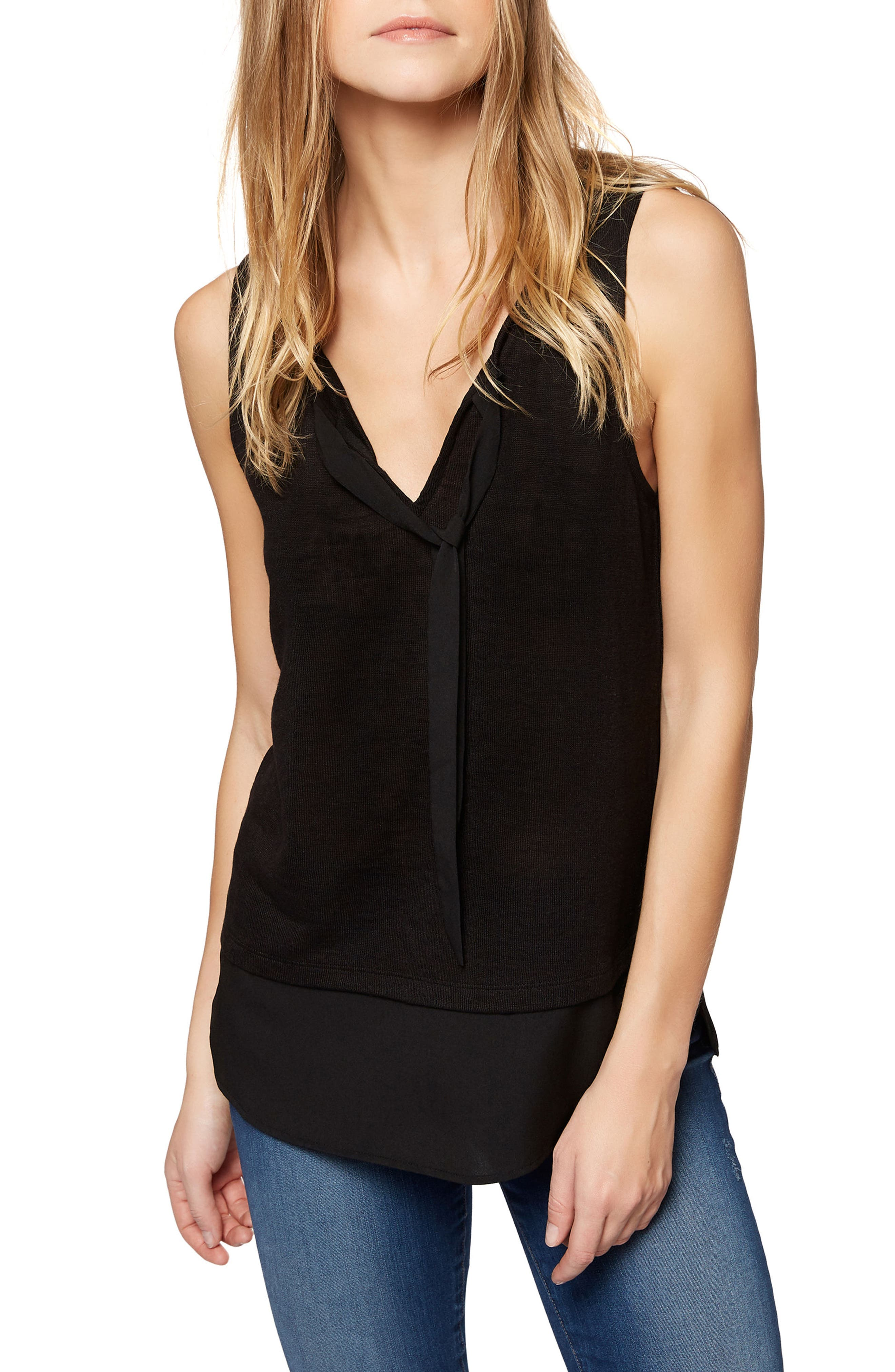 Alternate Image 1 Selected - Sanctuary Emma Tie Neck Top (Regular & Petite)
