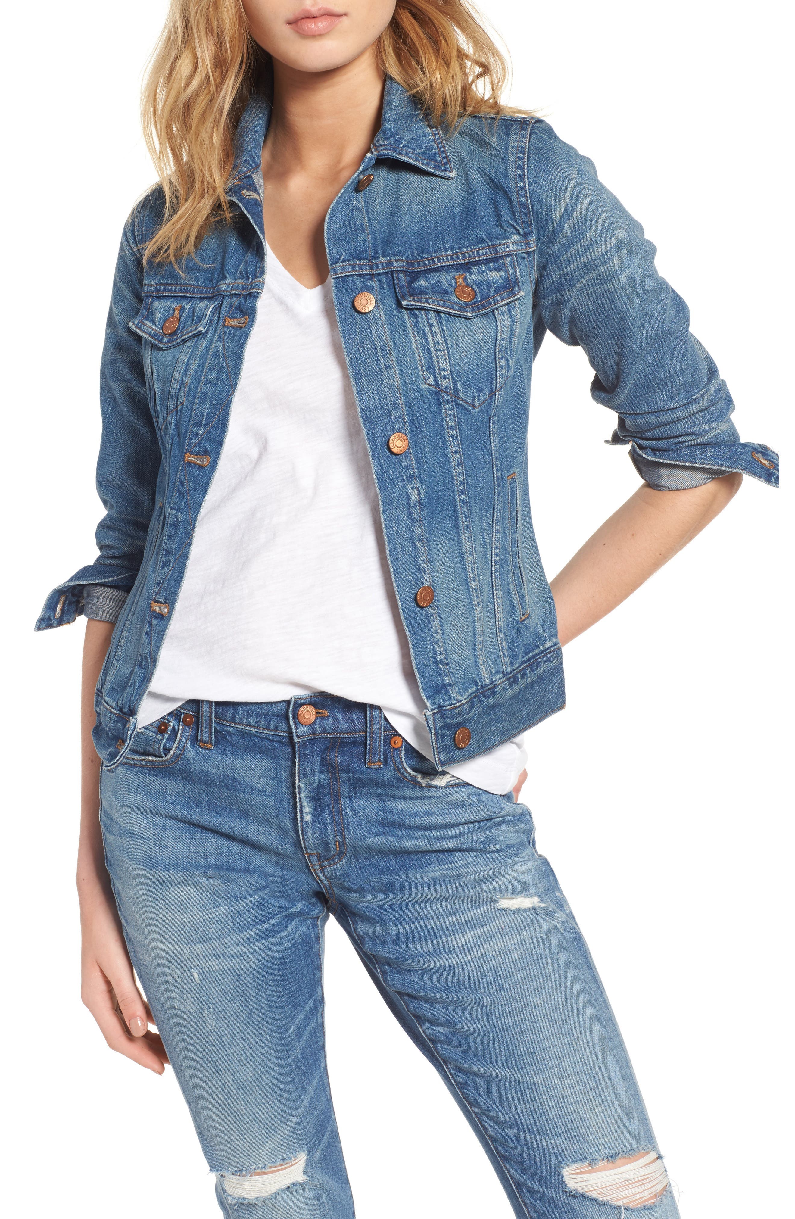 Alternate Image 1 Selected - Madewell Jean Jacket (Pinter Wash)