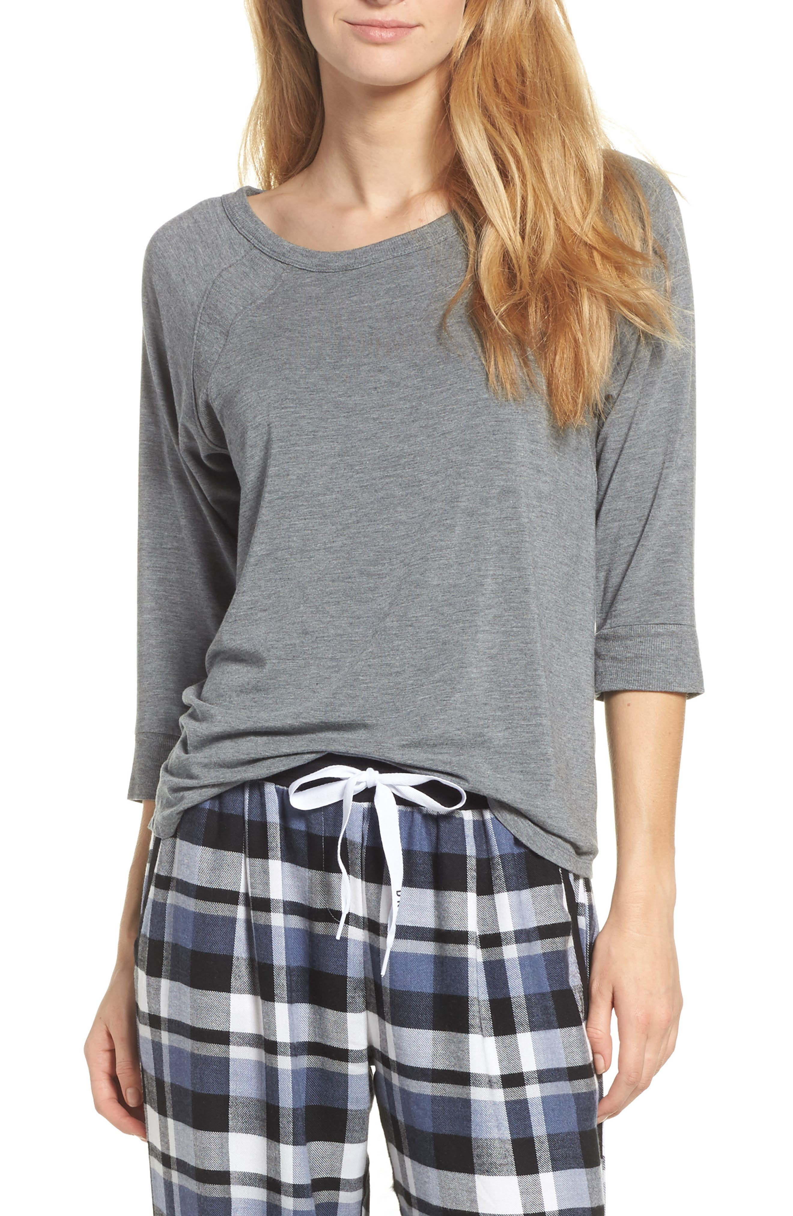 DKNY Three Quarter Sleeve Top