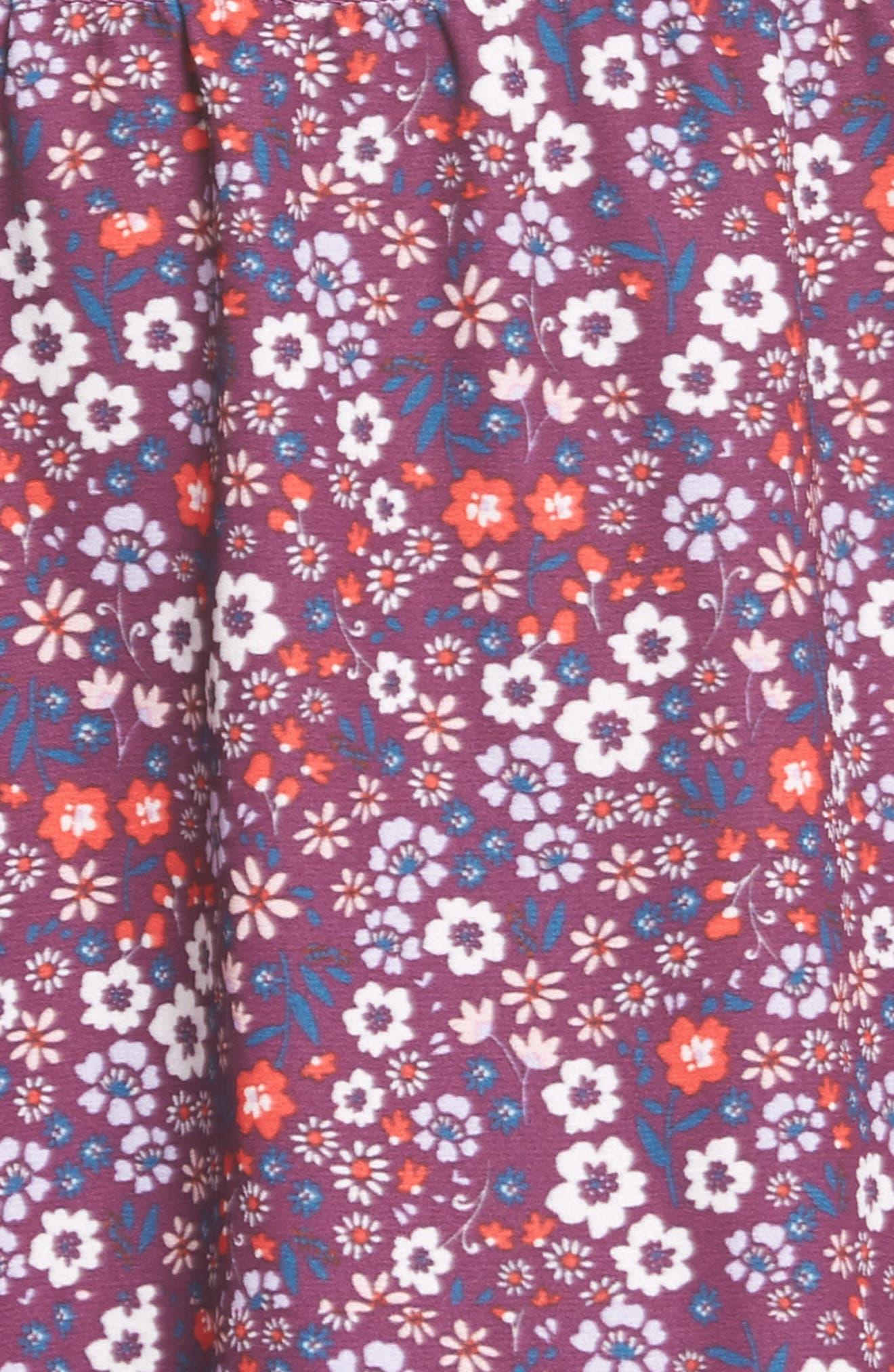 Irina One-Shoulder Blouson Dress,                             Alternate thumbnail 5, color,                             Magnolia