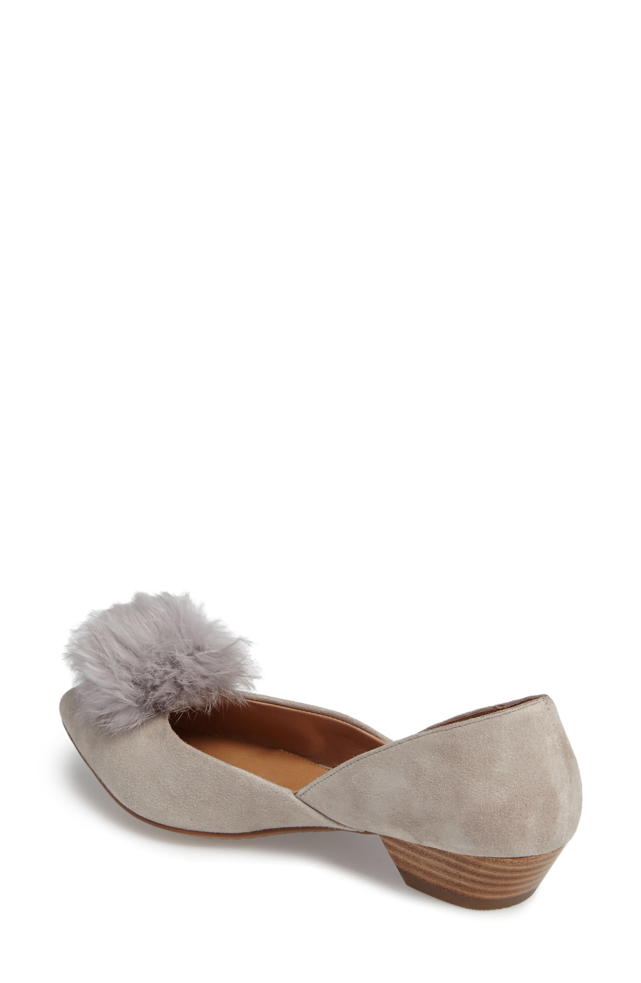 Alternate Image 2  - Linea Paolo Camille Pump with Genuine Rabbit Fur Pom (Women)