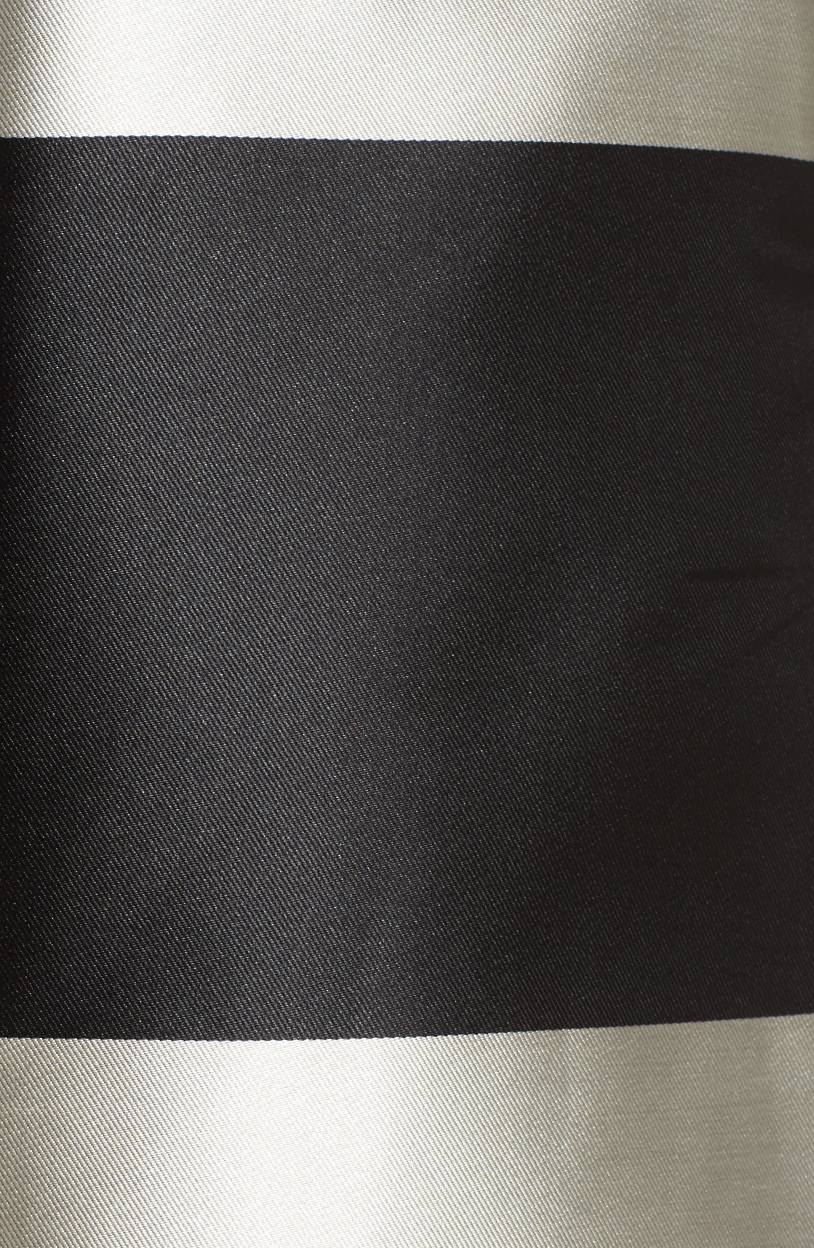 Stripe Pleated Midi Skirt,                             Alternate thumbnail 5, color,                             Black/ Ivory