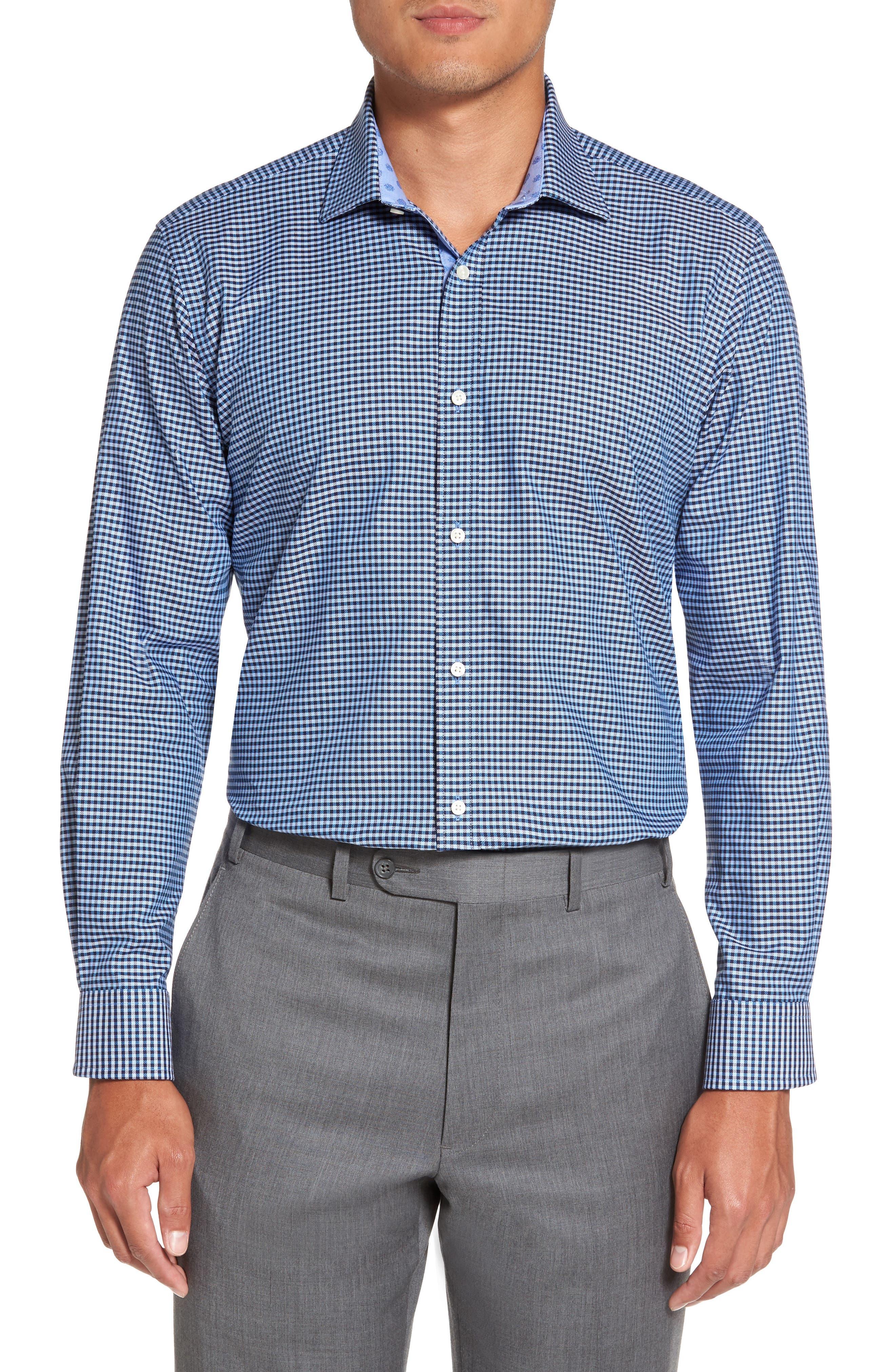 Endurance Sterling Trim Fit Dress Shirt,                             Alternate thumbnail 2, color,                             Blue