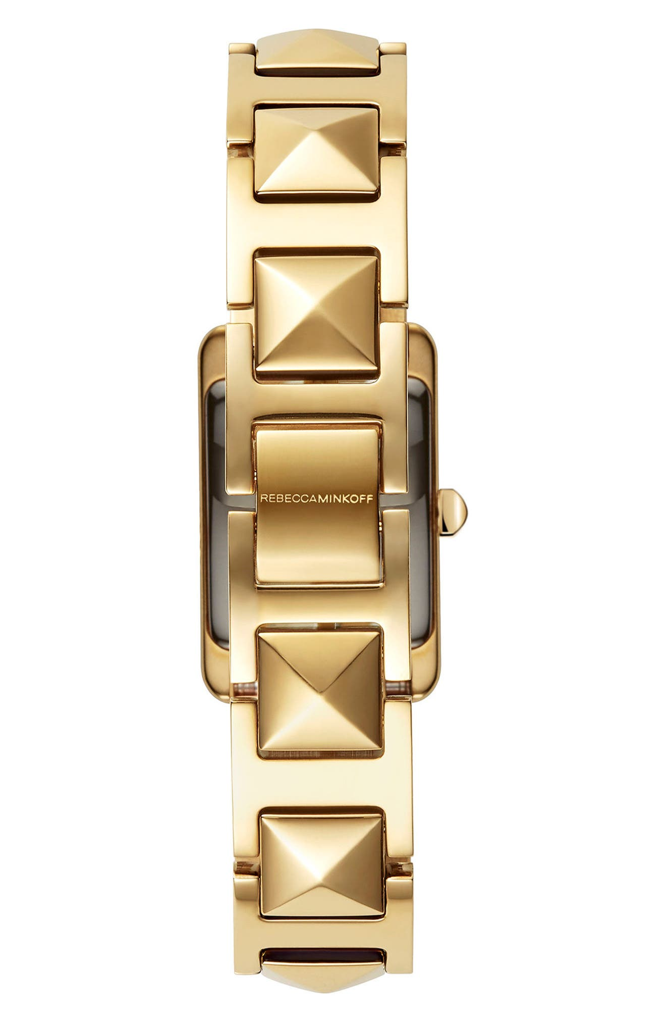 Moment Bracelet Watch, 19mm x 30mm,                             Alternate thumbnail 2, color,                             Gold/ Silver/ Gold