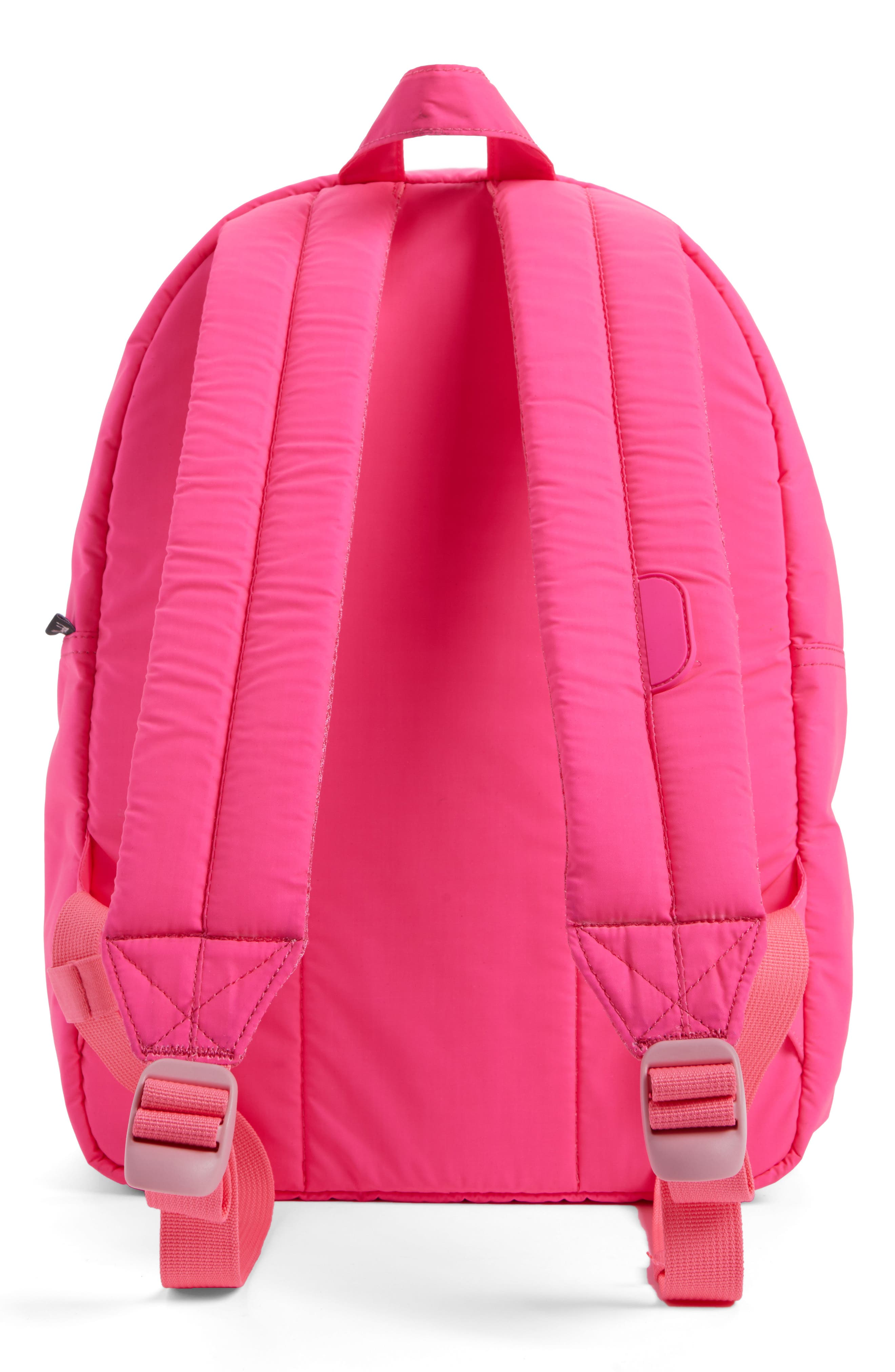 Heritage Backpack,                             Alternate thumbnail 3, color,                             Neon Pink Rubber