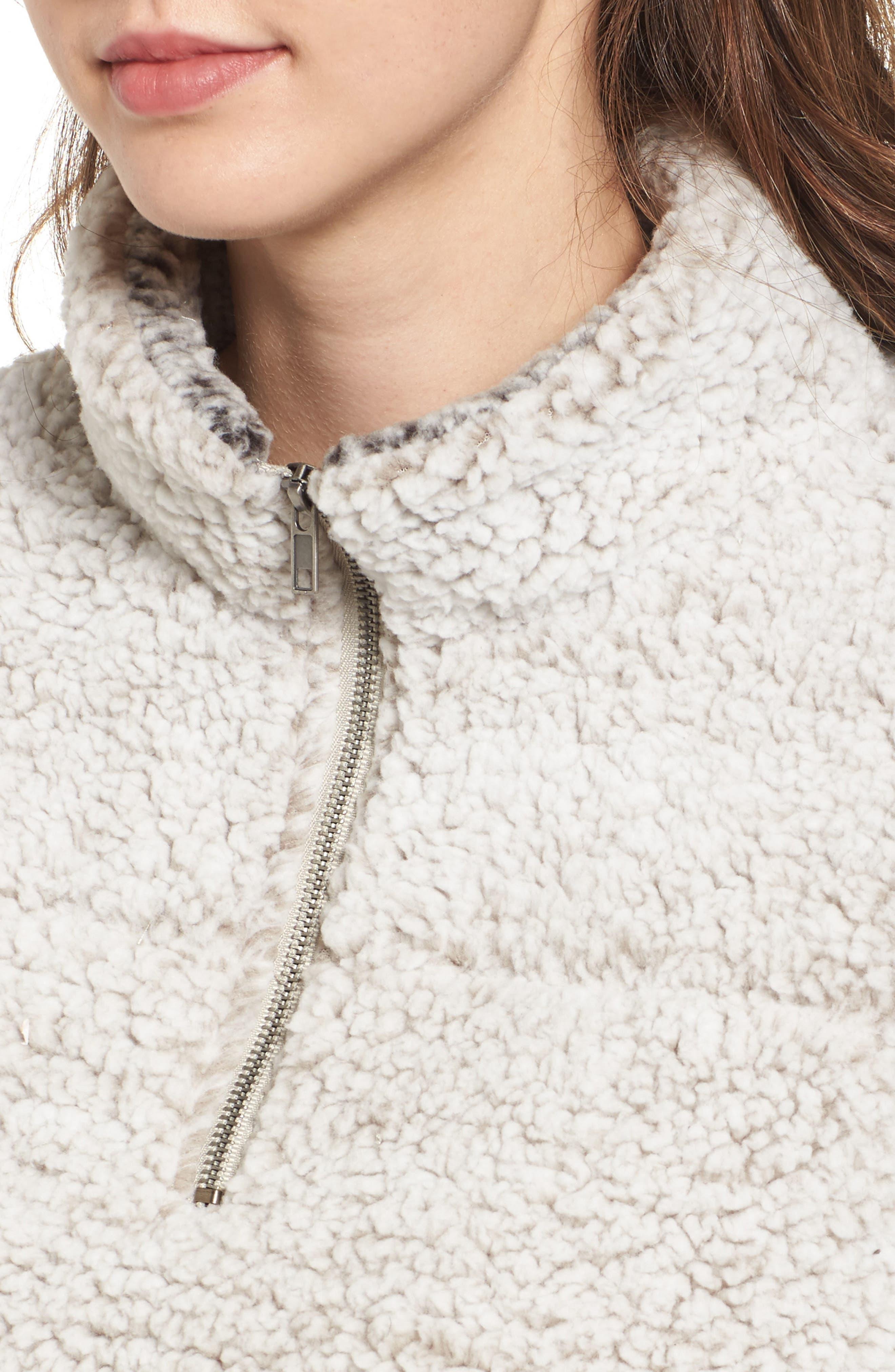 Wubby Fleece Pullover,                             Alternate thumbnail 6, color,                             Ivory