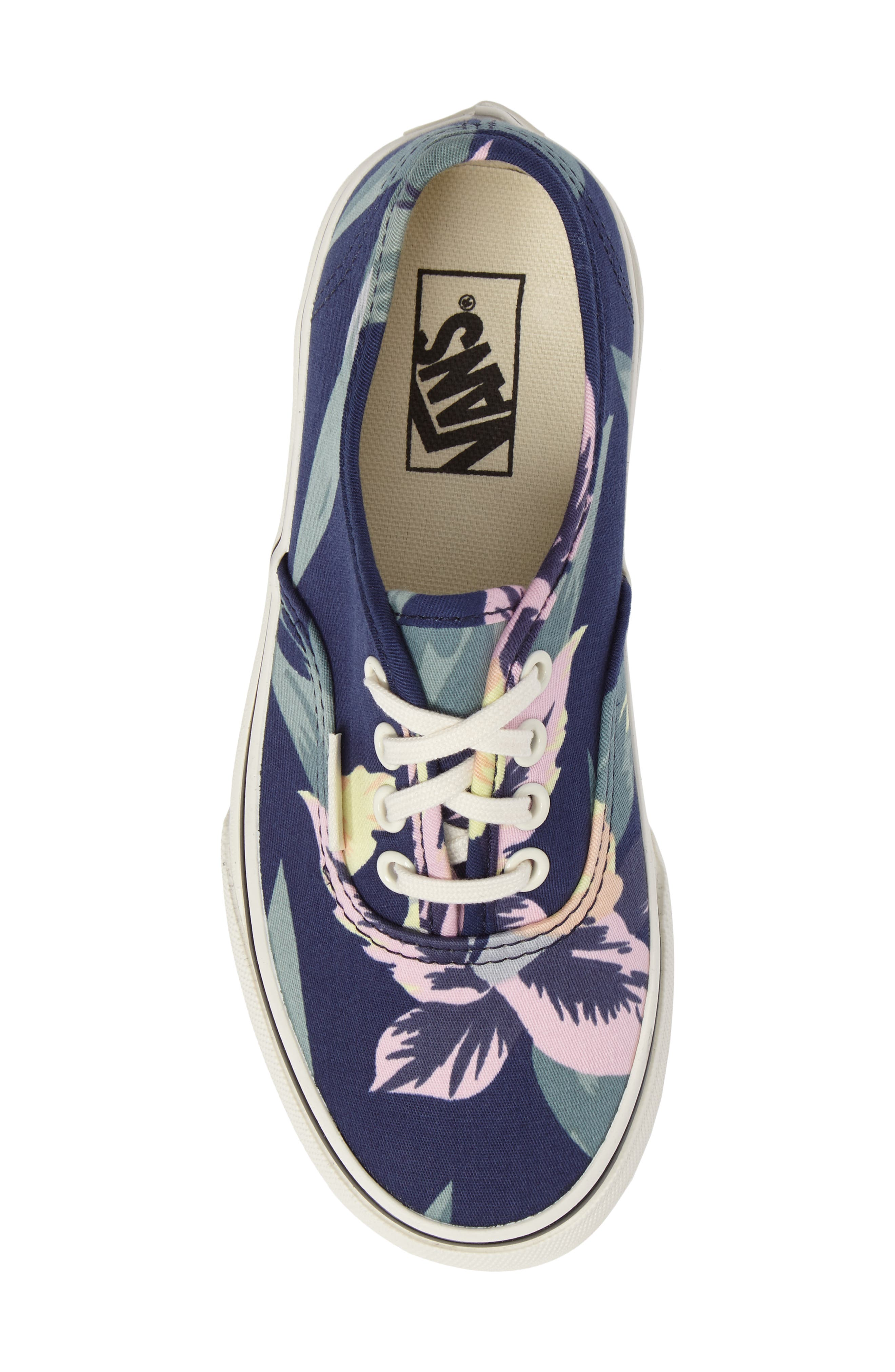 Alternate Image 5  - Vans Authentic Floral Print Sneaker (Toddler, Little Kid & Big Kid)