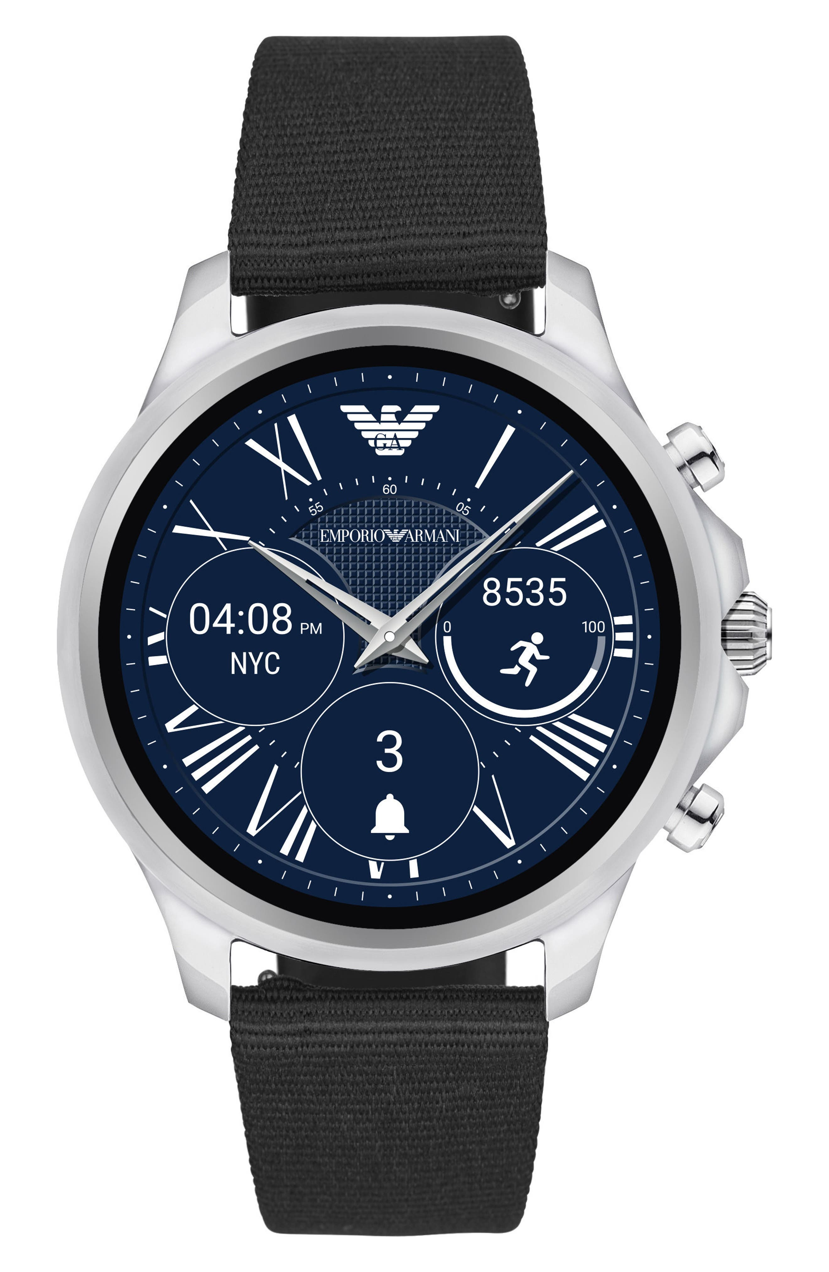 Alternate Image 1 Selected - Emporio Armani 22mm Canvas Watch Strap