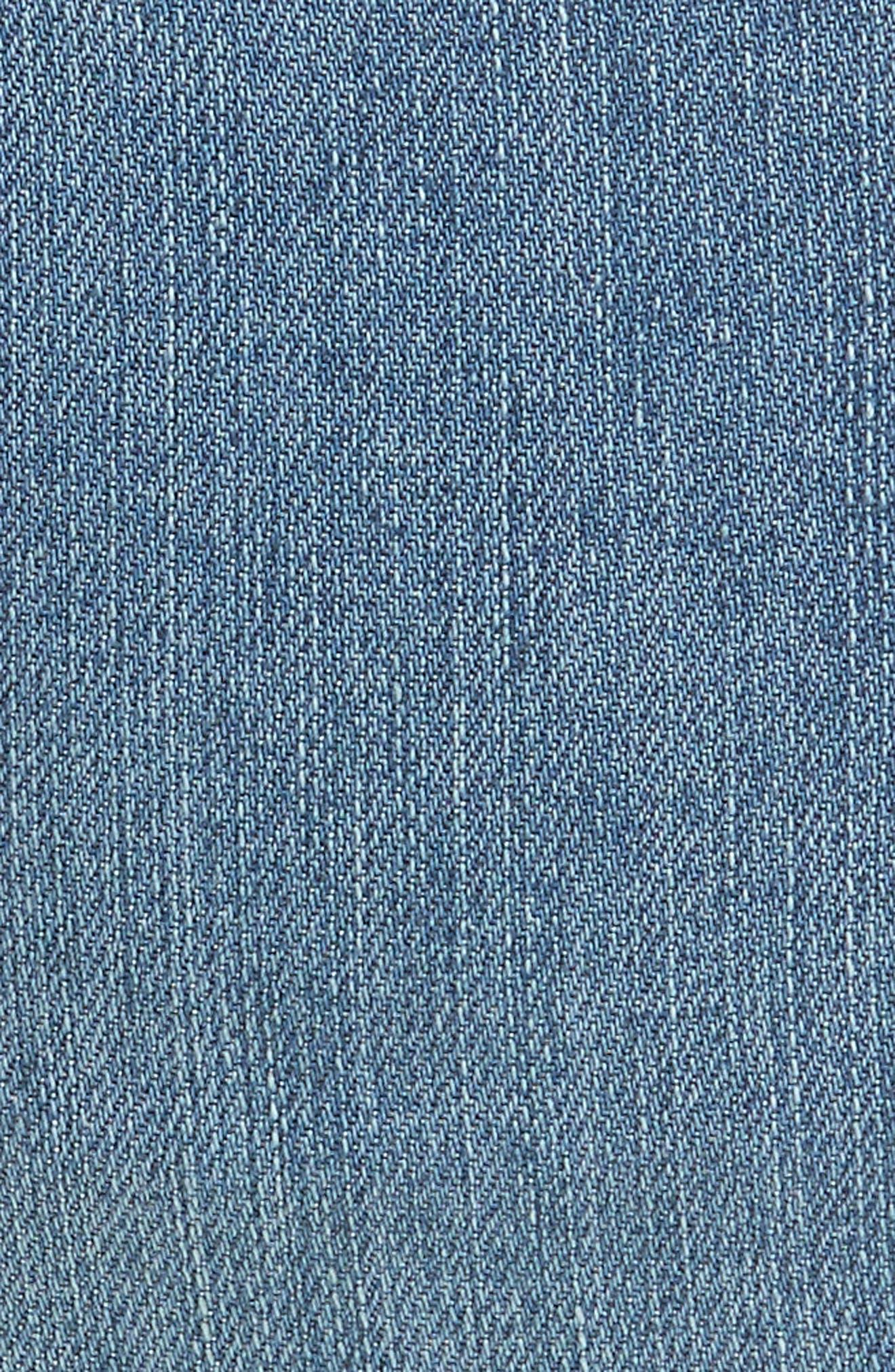 Alternate Image 5  - Free People Reagan Crop Skinny Jeans (Sky)