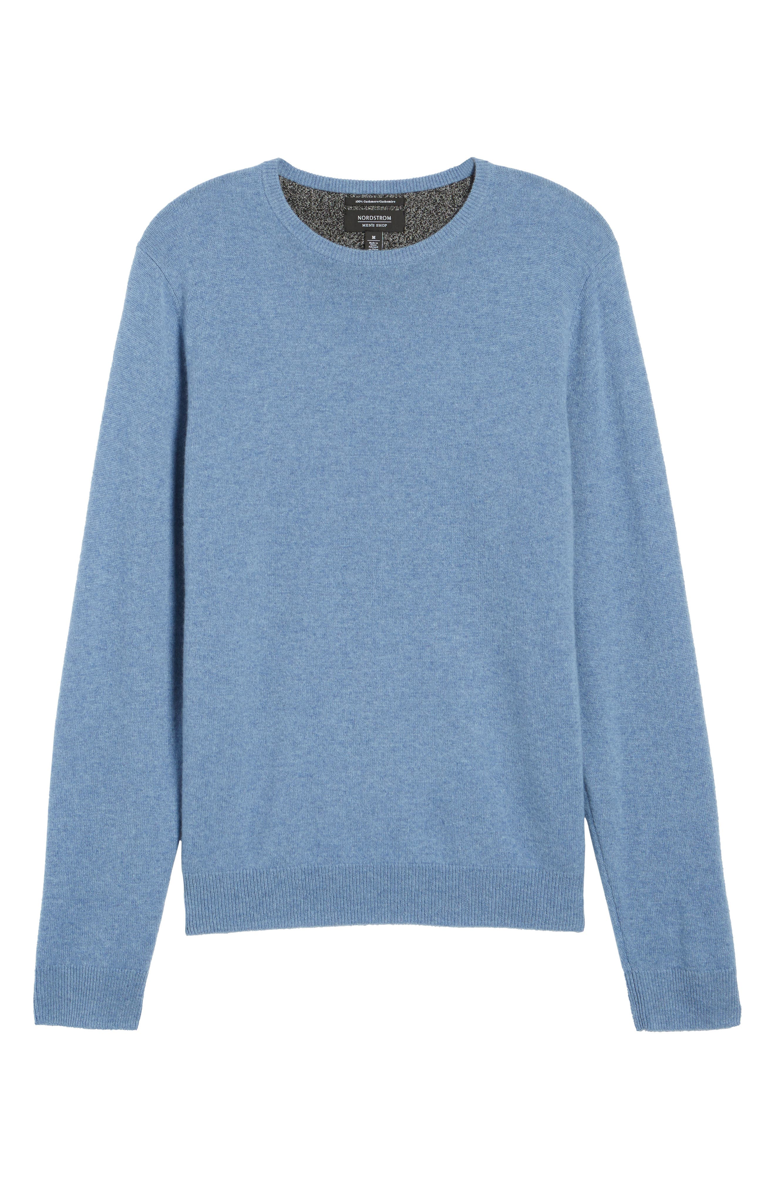 Alternate Image 6  - Nordstrom Men's Shop Cashmere Crewneck Sweater (Regular & Tall)