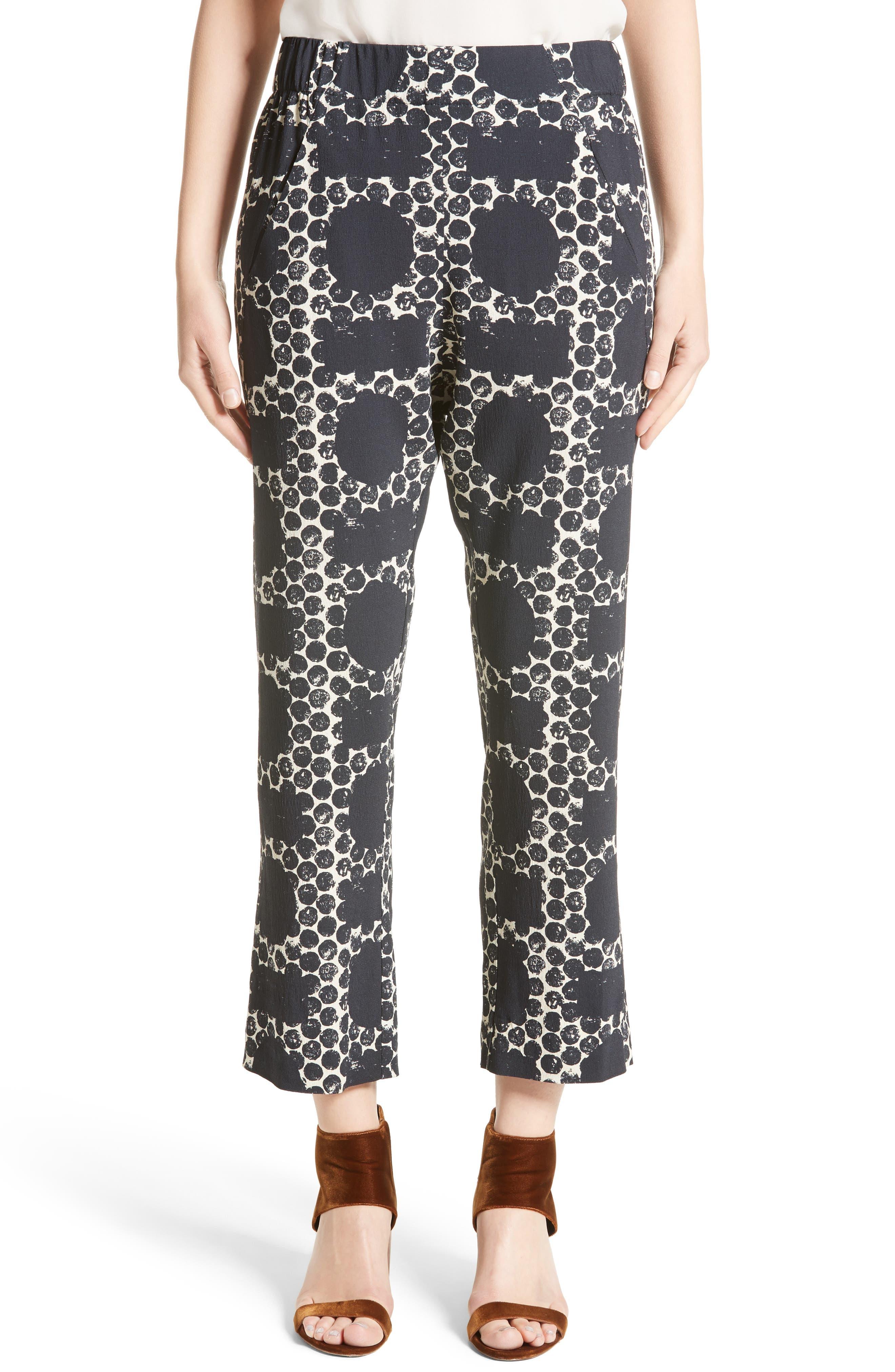 Zero + Maria Cornejo Eko Dot Block Print Crop Pants