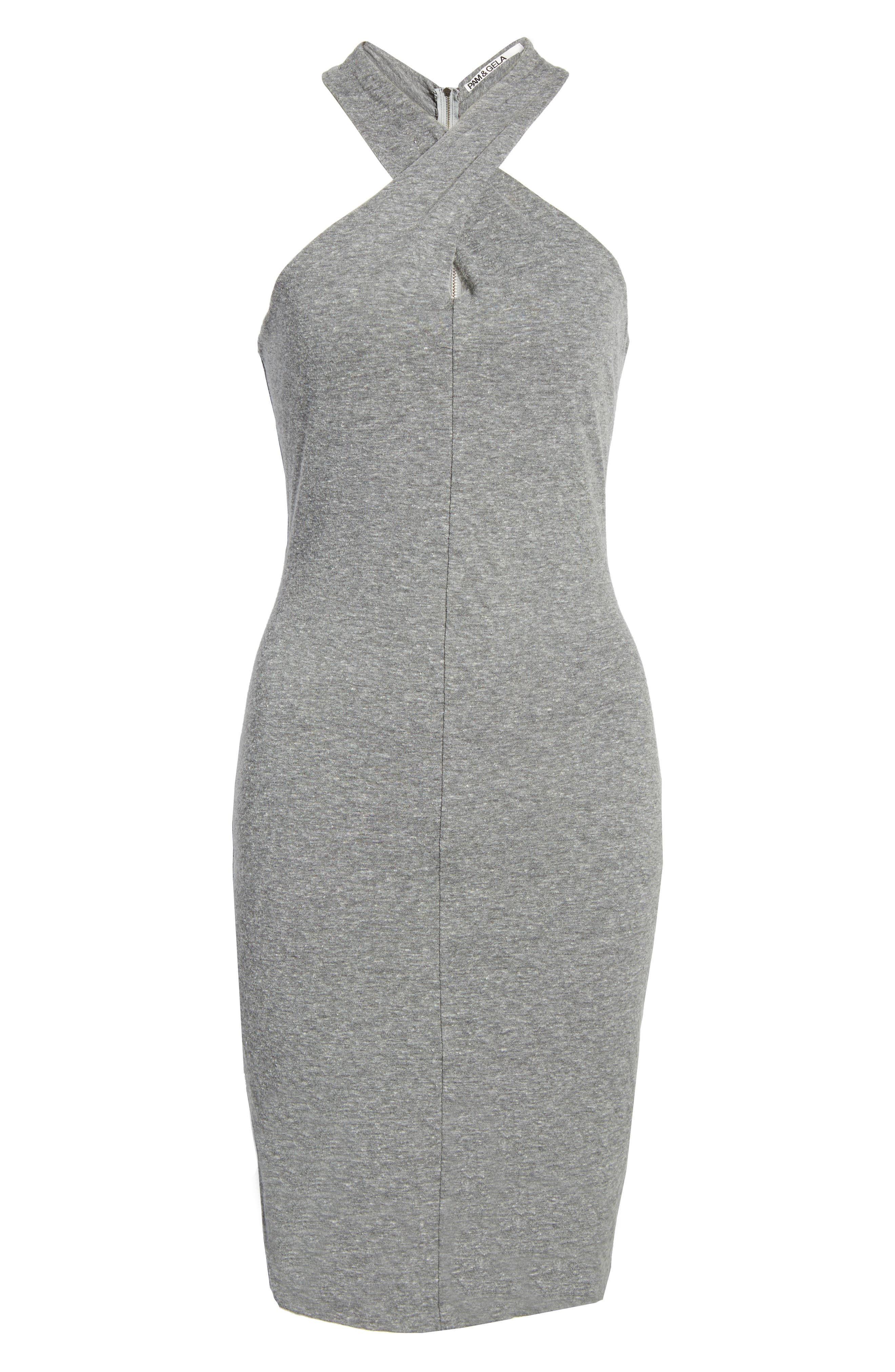 Alternate Image 6  - Pam & Gela Twist Collar Body-Con Dress