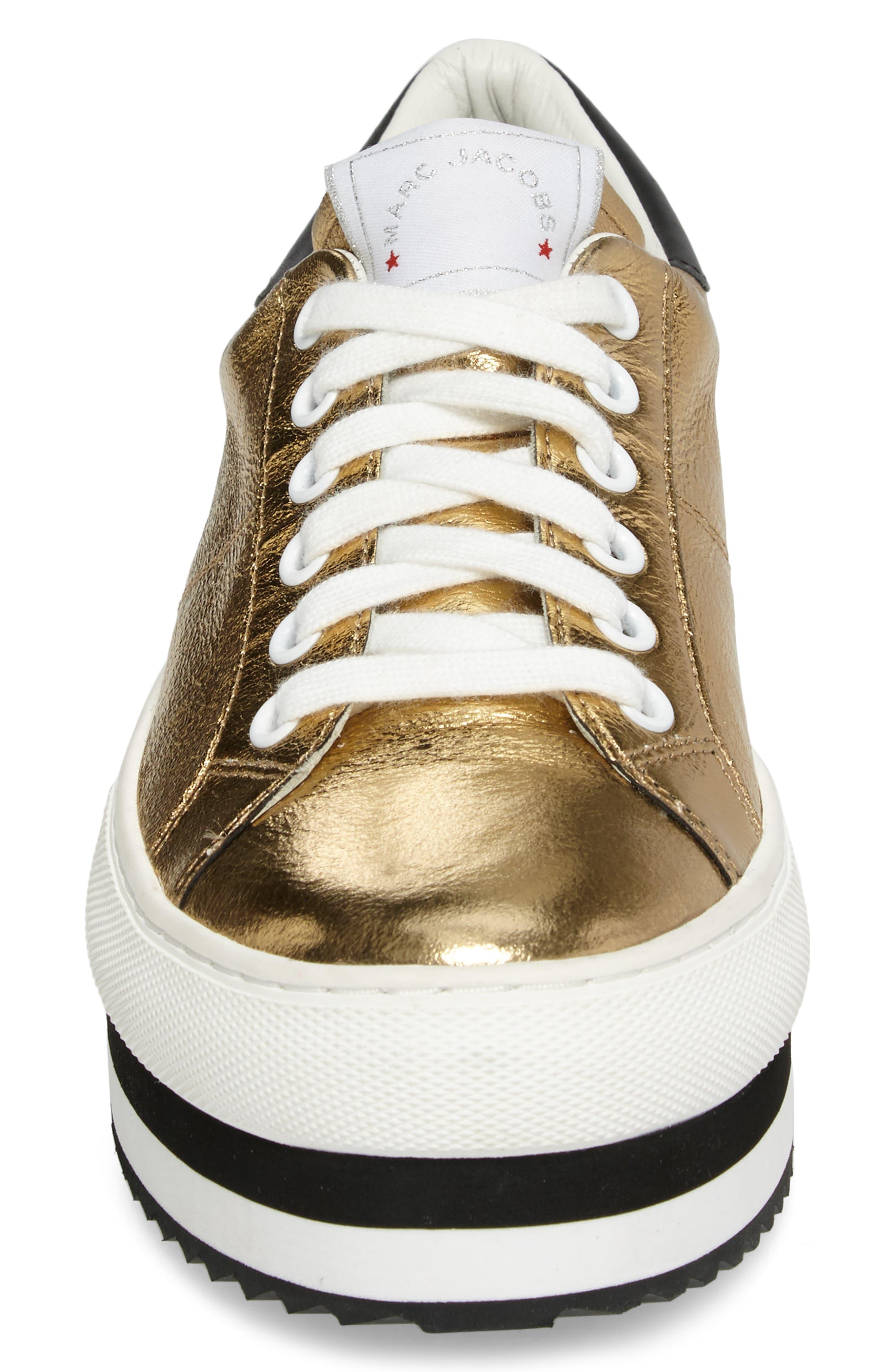 Grand Platform Sneaker,                             Alternate thumbnail 5, color,                             Gold