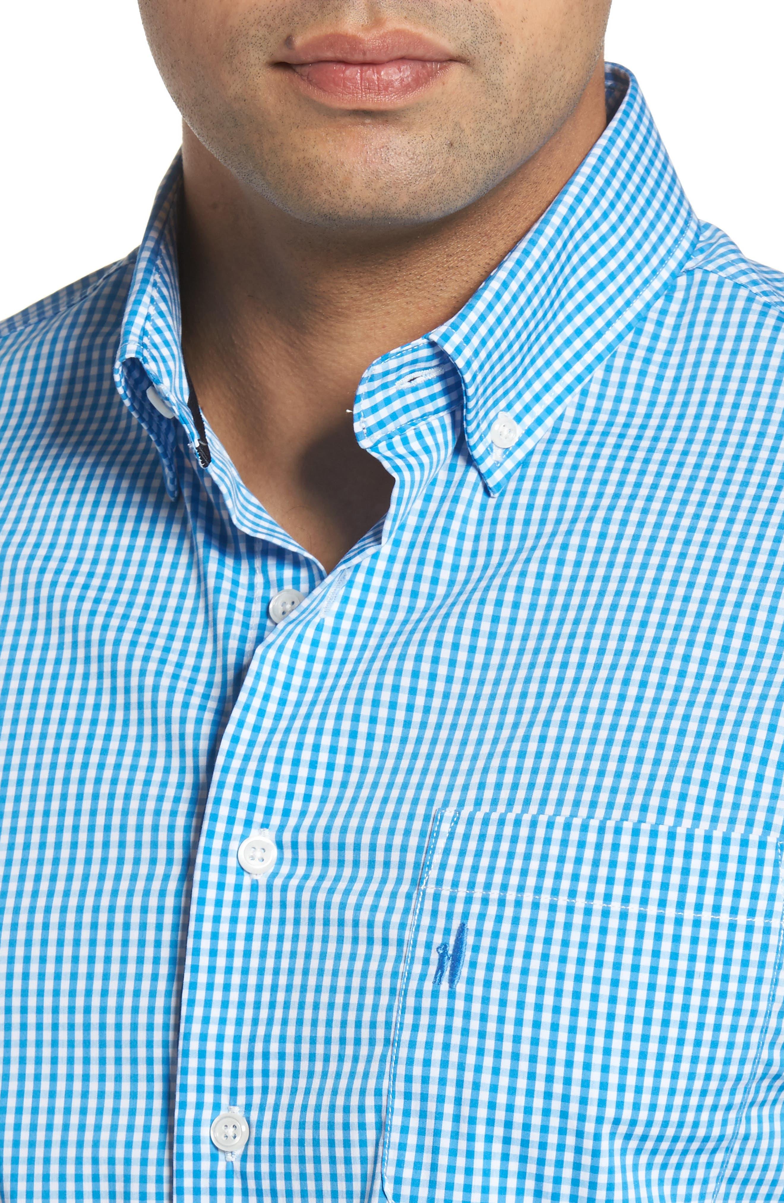 Augusta Classic Fit Check Sport Shirt,                             Alternate thumbnail 3, color,                             Oasis