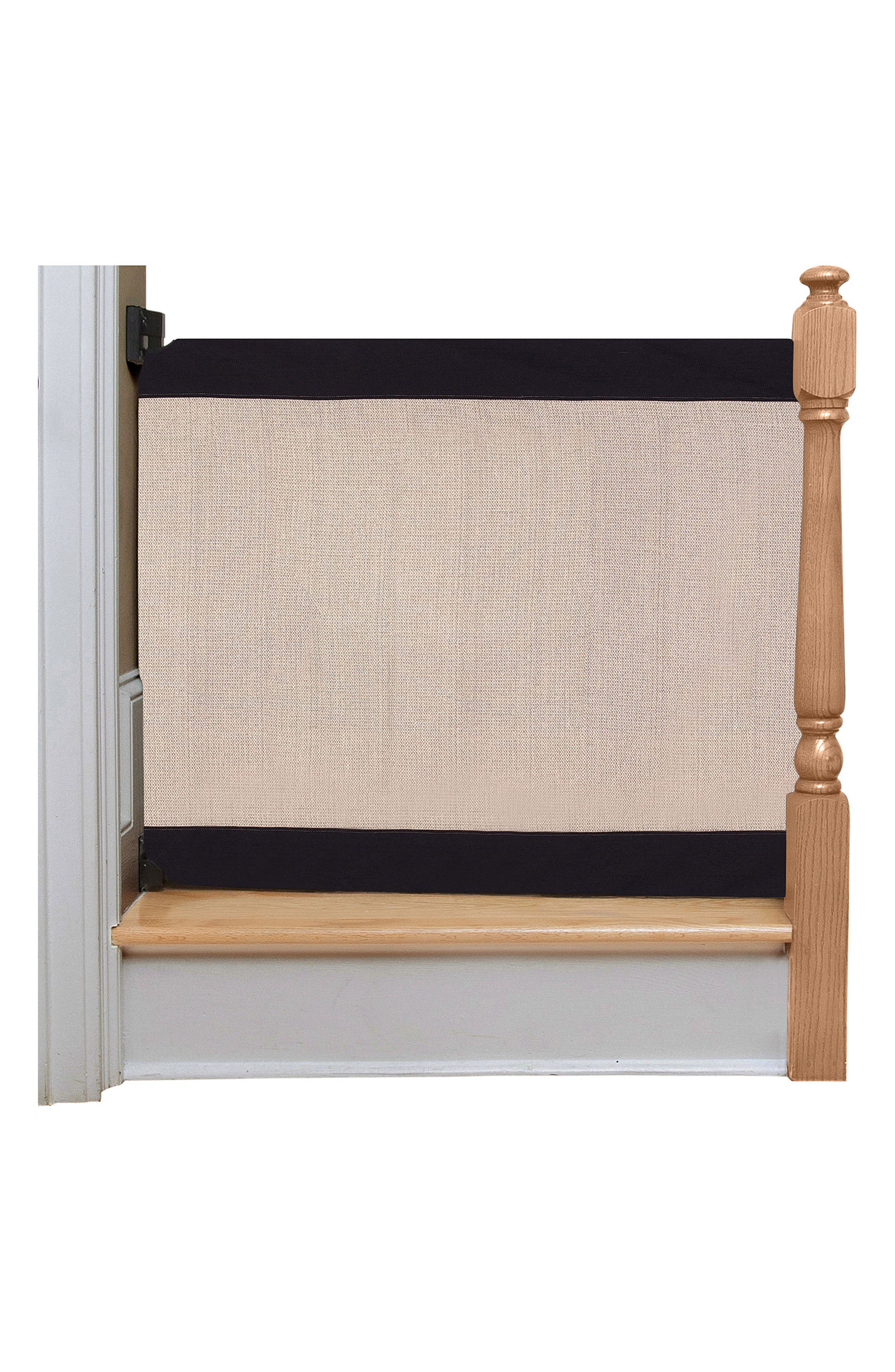 Wall to Banister Regular Width Safety Gate,                             Main thumbnail 1, color,                             Black And Tan
