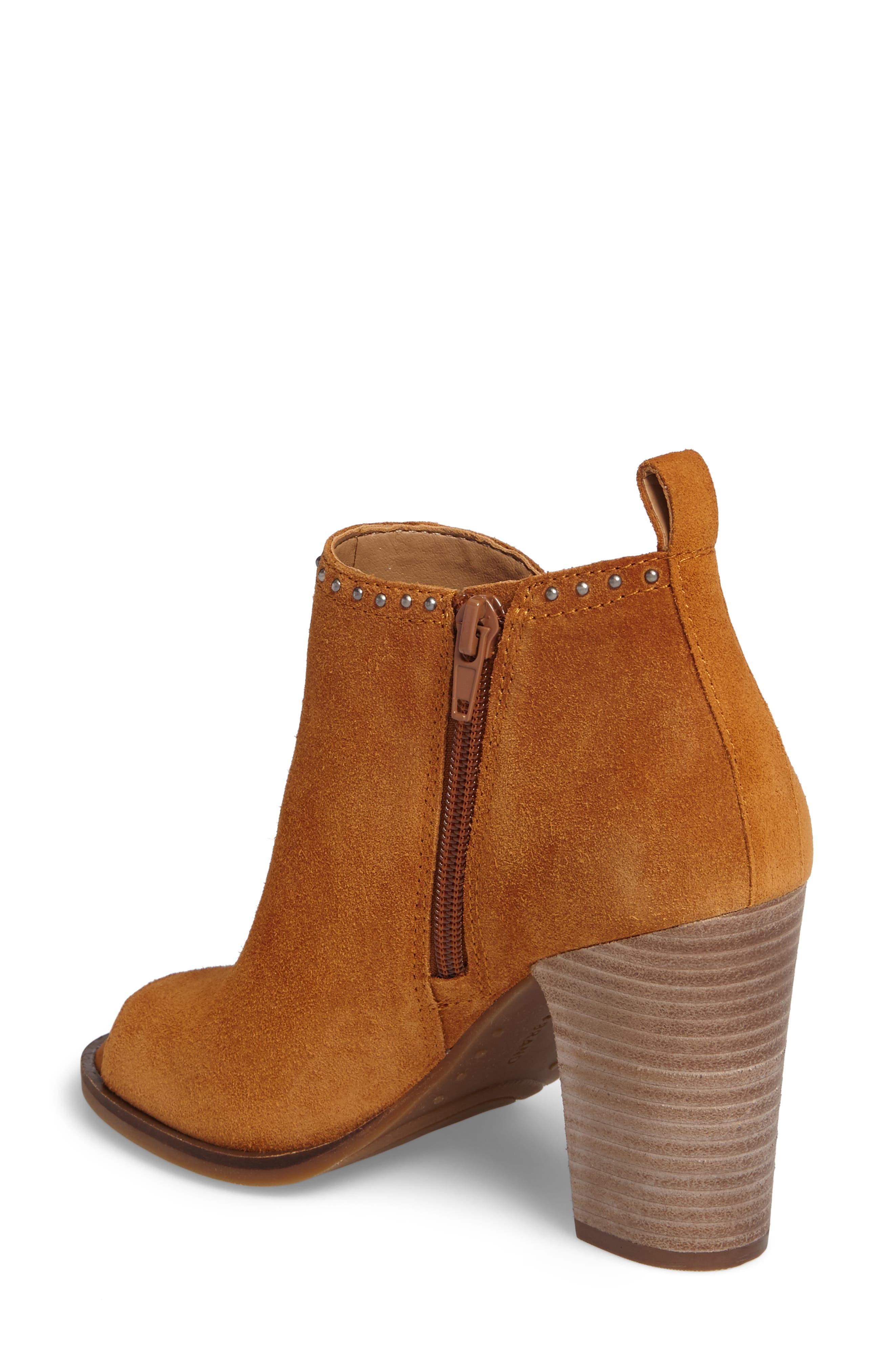 Alternate Image 2  - Lucky Brand Lotisha Studded Open Toe Bootie (Women)