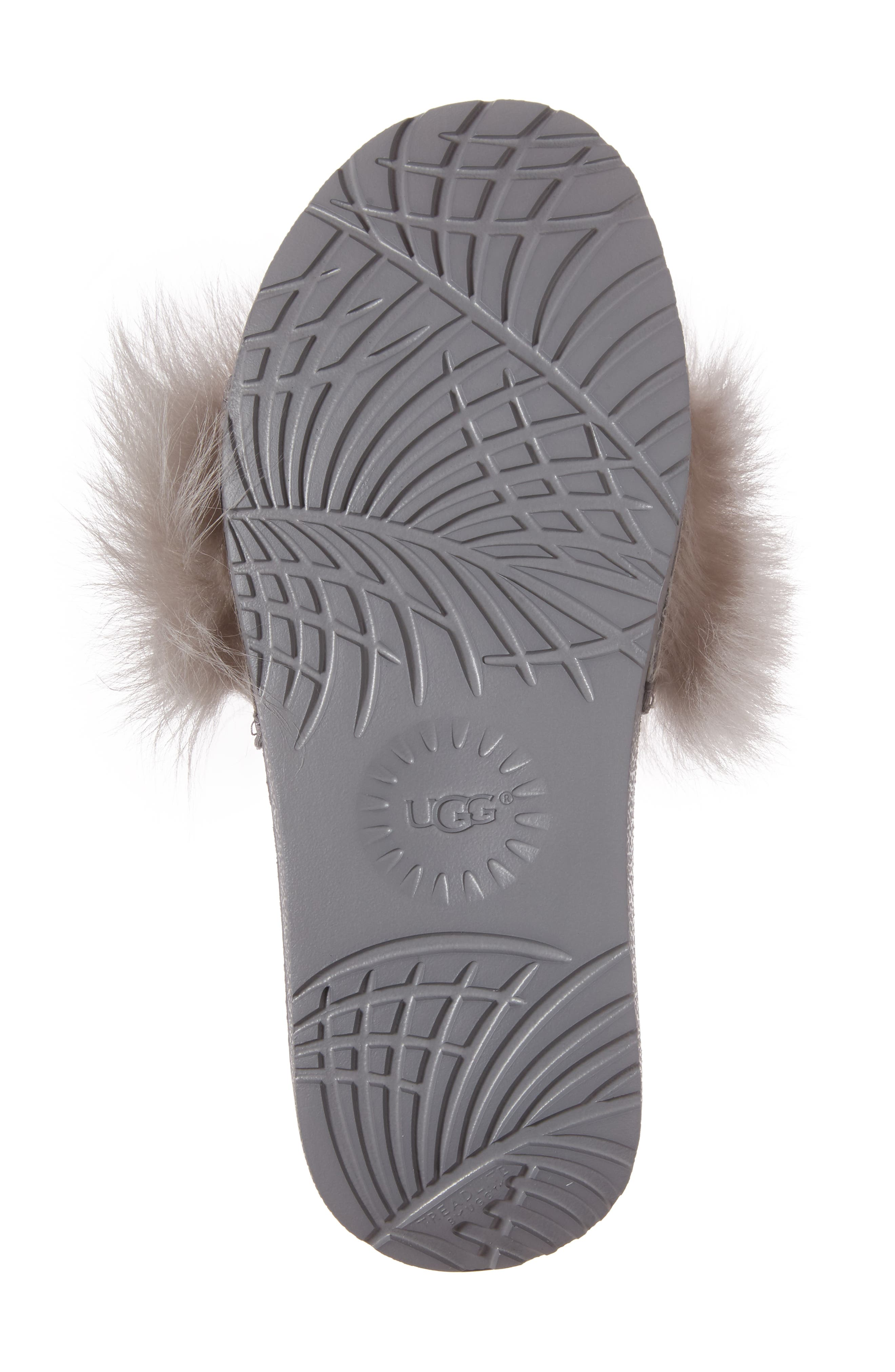 Royale Genuine Shearling Slide Sandal,                             Alternate thumbnail 6, color,                             Seal