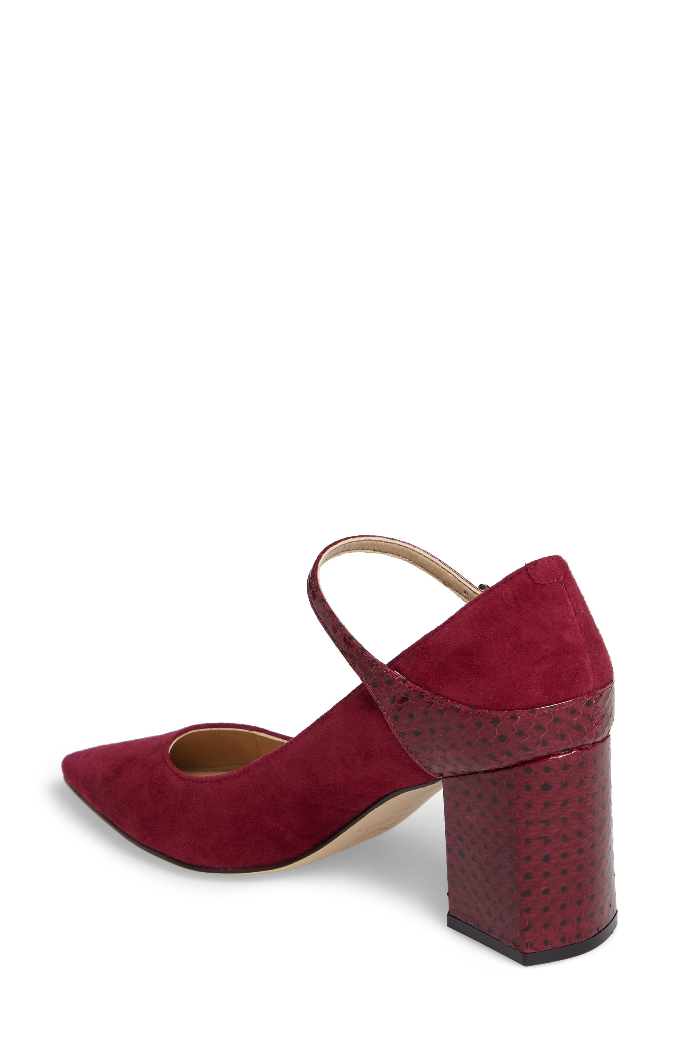 Zullys Snake Embossed Mary Jane Pump,                             Alternate thumbnail 2, color,                             Berry/ Berry Leather